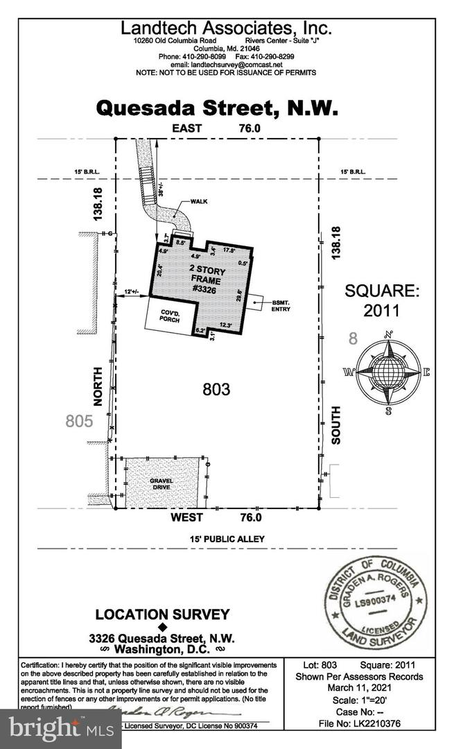 3326 Quesada Street NW  - Washington, District Of Columbia 20015