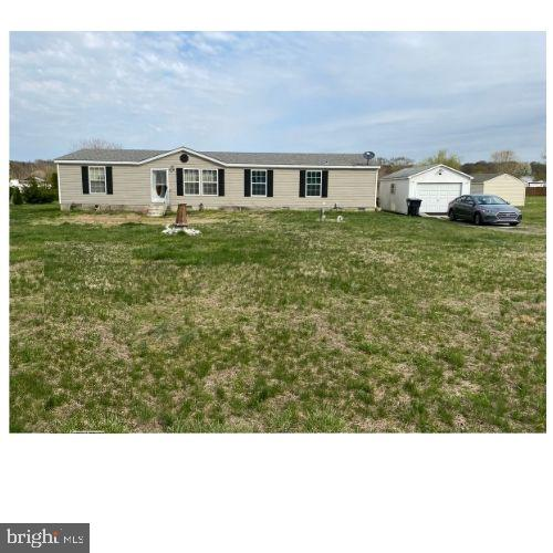 R-11769  This doublewide located in Marydel sits on over a half acre. It includes 3 bedrooms and 2 full baths.  The owners  suite includes a bathroom  with a jetted tub and shower.  In addition, there is a detached garage and above ground pool.