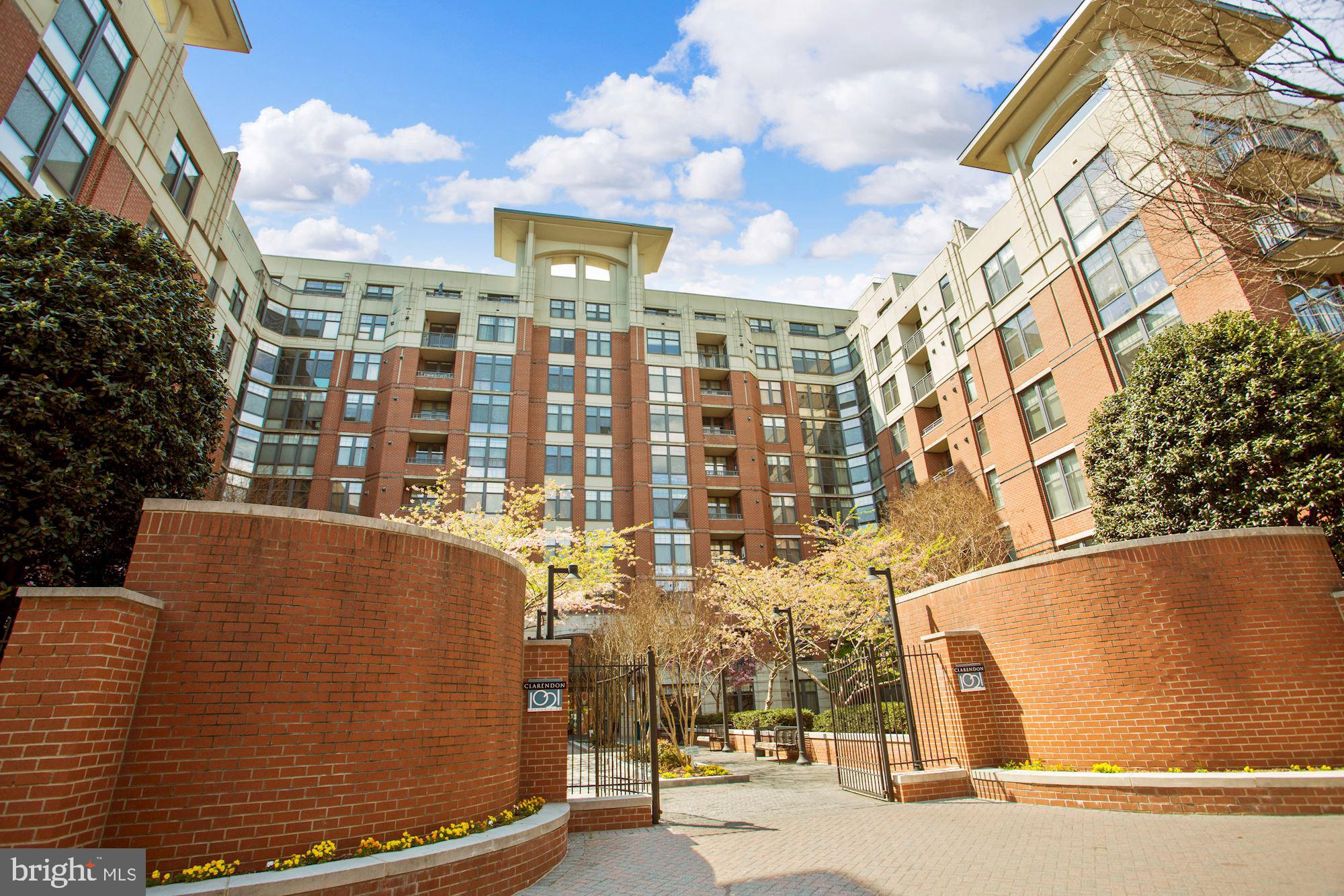 Absolutely stunning 1 bedroom, 1 bath condo with great city views in sought-after Clarendon 1021! Don't miss this immaculate boutique urban retreat featuring a gourmet kitchen with new appliances, a gas fireplace, in-unit laundry and garage parking. This haven in the heart of Arlington is just blocks from Clarendon Metro and steps to Clarendon shops, dining and entertainment. Enjoy Clarendon 1021 amenities like a rooftop pool, fitness center, business center, and a 24/7 front desk concierge!