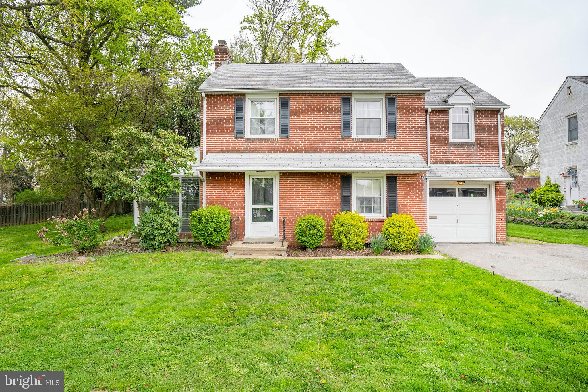Welcome home to this charming 3 bedroom, 2 bathroom classic brick colonial in popular Delaire Community. You will love the cozy feel when you walk right into a large living space. You will enjoy the look of 2 fireplaces on the first floor (1 gas, 1 wood burning) The traditional layout of the first floor is ready for you to make it your own and make your own upgrades. This home also has an option for a first floor bedroom with a full bath! Upstairs you will find 3 bedrooms and a full bathroom with enough space for everyone. The backyard will not disappoint. Enough space to entertain friends and family for years to come. HVAC Replaced in 2016
