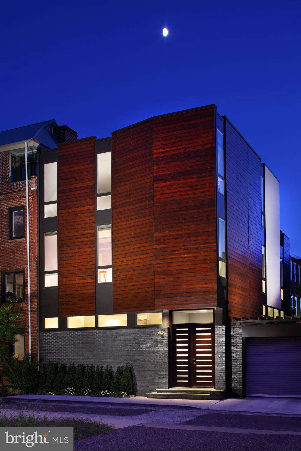 OLIVE RESIDENCE | A Unique Urban Oasis Created for Contemporary  Lifestyles  ||  This extraordinary luxury home, located in the heart of the celebrated Northern Liberties community of Philadelphia, awaits you as a perfect example of balance and proportion. This unique opportunity is offered for sale to a discriminating buyer who loves modern urban design.  ||  The 'Olive Residence', home to a prominent Philadelphia photographer, is a lovely commanding three-story architect-designed custom luxury home optimized for a low carbon footprint and sits on a rare extra-wide deep lot 40'x75'.  A delightful integration of formal and informal space is what makes this home so enjoyable for living.  The curb view features an anthracite brick base and a cedar rain screen above with a sweeping south-facing private garden to the rear. The interior is graced with deftly executed details, numerous refined amenities, and a thoughtful selection of materials, and textures.  ||  The first level unfolds with an expansive open plan that flows from the kitchen, with a dedicated walk-in pantry and a massive island counter, across the living area with soaring ceilings and custom LED lighting, outdoors to a landscaped private garden, a cherished retreat from your active lifestyle. The master suite overlooks the garden and two additional bedrooms are neatly nestled on the second level, while the third level greets you as a large open plan studio or office that adjoins a generous terrace, and an additional bedroom. Lower Level Storage. Gated two-car parking is neatly tucked to the side of the home.  ||  Enjoy a short stroll to restaurants, and shopping, the Metro, Septa, and all that the vibrant community of Northern Liberties has to offer. Specifications and Plan View Document Available.
