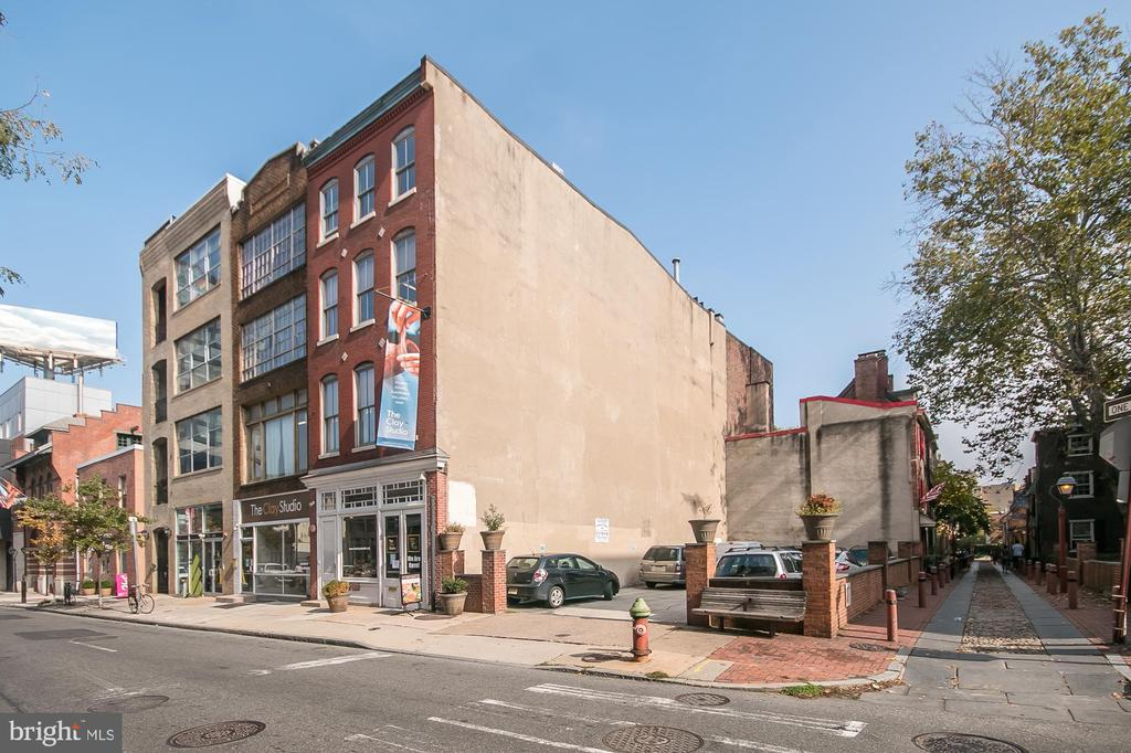 This three-parcel property in the Old City neighborhood of Philadelphia. This rare opportunity allows an investor to acquire two adjoining 4-story buildings and a parking lot adjacent to historic Elfreth's Alley. The property is currently operated as an Art Gallery on the 1st floor and studios for clay artisans on the 2nd, 3rd, and 4th floors. The owners will be re-locating the Clay Studio operation to another property that is more suitable for the artists in which to work. Clay Studio is willing to stay on as a tenant until October 2021 or vacate immediately, whichever suits the Buyer best.