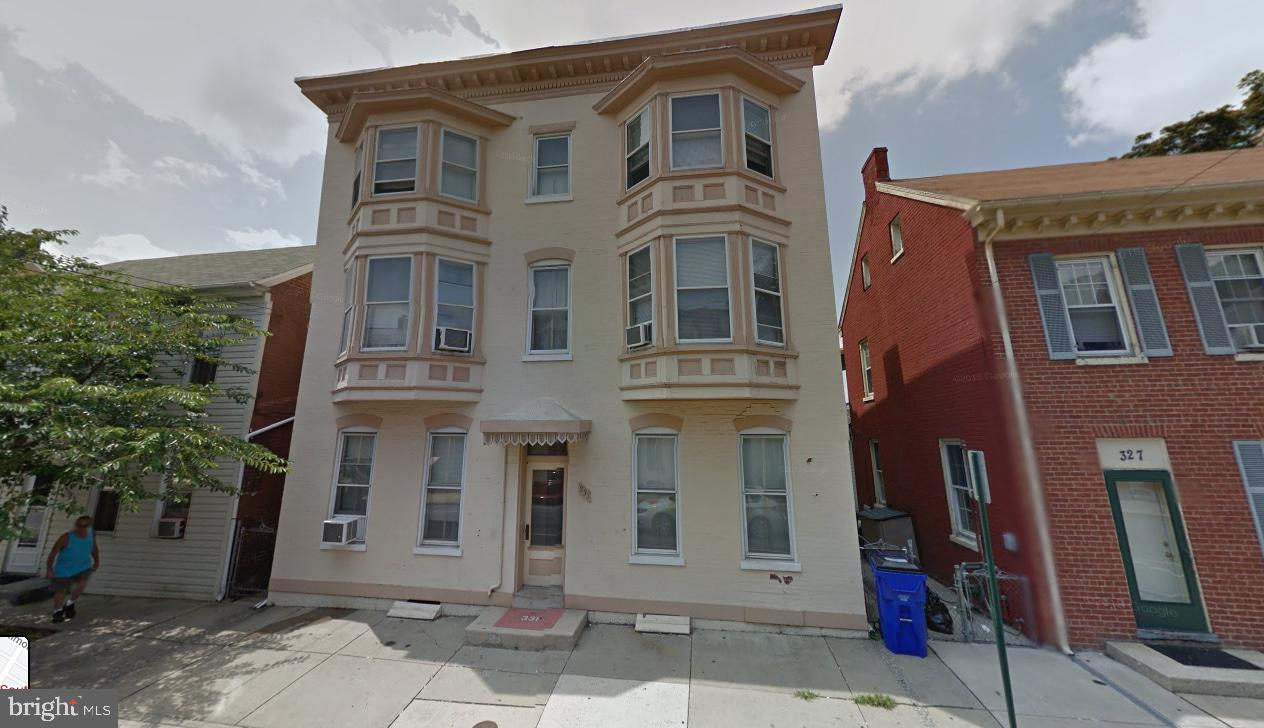Great Investment Opportunity In Hagerstown.  Downtown in prime location. 5 out of 6 tenants have been here for 20+ years. 6 fully occupied Apt's (2BR 1BA each)  large units .   Rent is low , Electric separately metered. Must see!