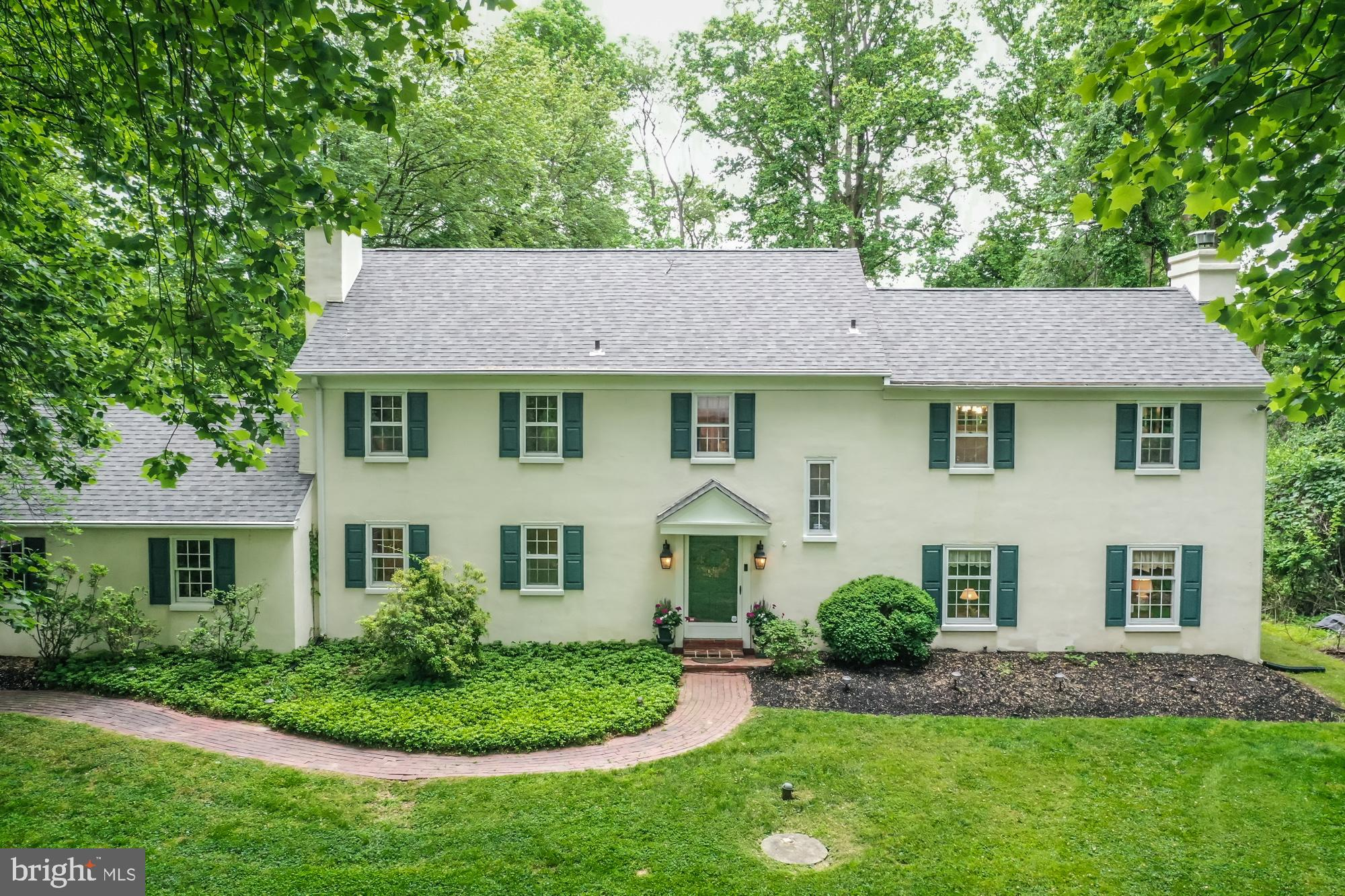 Looking for 4 Bedrooms, 2 1/2, Baths, on a 2  acre level lot with a cul-de-sac street? Here it is, a Thornbury, Chester County Gem! This lovely home has a gracious Foyer, Formal Living Room with a Fireplace & Built-in Wet Bar.  The Dining Room has a Corner China Cupboard.  The Kitchen is the heart of this home, with Cherry Cabinets, Double Wall Ovens (SC, Conventional, & Convection), Cooktop, DW, and serene views of the back yard.  The Laundry/Mud Room provides garage and Deck access.  The Kitchen,  Powder Room, & Laundry/Mud Room have Terracotta Tile Floors.  All other first floor rooms have pegged, random width hardwood floors.  Step down from the Foyer to the large Family Room with a Slate surround Fireplace. There are plenty of windows for natural light, and French doors to the Screened Porch where you can enjoy the outdoors, while you read, rest, or sip an afternoon tea.   Upstairs, to the right, a  Master Bedroom and bath enjoy their own space, with light and views of the front and back yard.  Three more bedrooms and a hall bath are to the left.  Two of these bedrooms are very large. The 4th Bedroom can be used as a Guest room/office.  A Queen bed fits with a desk.  Closest to the master, it is perfect for a nursery.  The 2rd floor has random width hardwood floors throughout, except for the bathrooms.  The Basement Rec Room is carpeted and offers additional space to relax, play games, or watch TV.  The utility area and storage are in the unfinished area, and the walkout Bilco doors go to the back yard.  The crawl space offers additional storage.   2 acres offer a big outdoor living space, with lots of opportunities, and additional walking space with Fox Meadow and Penn Oaks right behind the home.  Grill on the Deck overlooking the level, open back yard, with plenty of room for an inground pool one day.  Most of the lot is open, with approximately 3/4 of an acre being wooded.  This is a Smart Home - Two Honeywell smart Electronic Thermostats can be controlled f