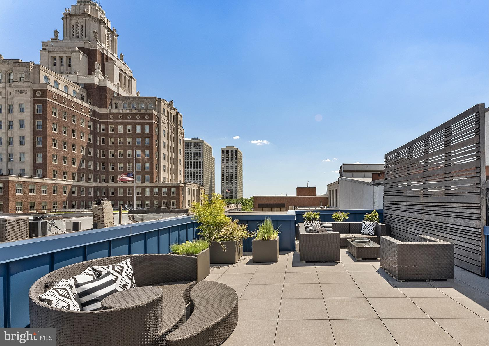 Located in the heart of Old City, this beautiful, quiet bi-level Penthouse occupies the 5th and 6th floors of a discreet luxury condominium building with two large outdoor decks. Enter this custom residence via elevator opening directly into the foyer of the home. Stepping out of the foyer into the entertaining spaces you will be greeted by incredible views of the American Revolution Museum. Featuring 10 foot ceilings, wide plank hardwood floors, and recessed LED lighting all throughout the home. The gourmet Scavolini kitchen includes a 48 inch Wolf gas range with infrared charbroil & griddle, Sub-Zero refrigerator, and a built-in Miele coffee maker. The large deck off the dining room offers a relaxing space to entertain outside with a built in Wolf grill and plenty of room for both casual seating and dining. The main living floor also features a powder room, two guest suites with their own ensuite private bathrooms, and a washer/dryer for the two guest bedrooms to use. Two additional deeded storage closets can be accessed from this floor. Continuing up the wood and glass framed staircase, the entire second floor encompasses the primary suite. This expansive bedroom features a large walk-in closet with built-in cabinets, its own separate washer/dryer, steam shower, and expansive roof deck. Additional features include parking paid for by the owner for 1 year and the remainder of the tax abatement ending 12/31/2023. Enjoy a lifestyle of complete privacy, comfort and convenience with easy access to 676 and 95, and steps away from the best restaurants Old City and Society Hill have to offer.