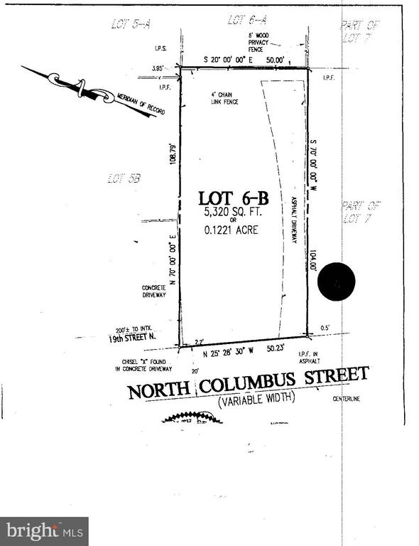 1833 N Columbus Street. Flat lot in Arlington is ready for you to build your dream home.  Mature trees surround the property for enjoying the great outdoors on the future patio. The driveway on the property is perfect for bringing construction equipment. Lot uses public water and sewer. Electricity is already at the lot. This is the perfect location with easy access to I-66, Rt. 29 and Glebe Rd.  The Ballston Metro station is just 1.6 miles away.  You can find many restaurants, shops and parks nearby.