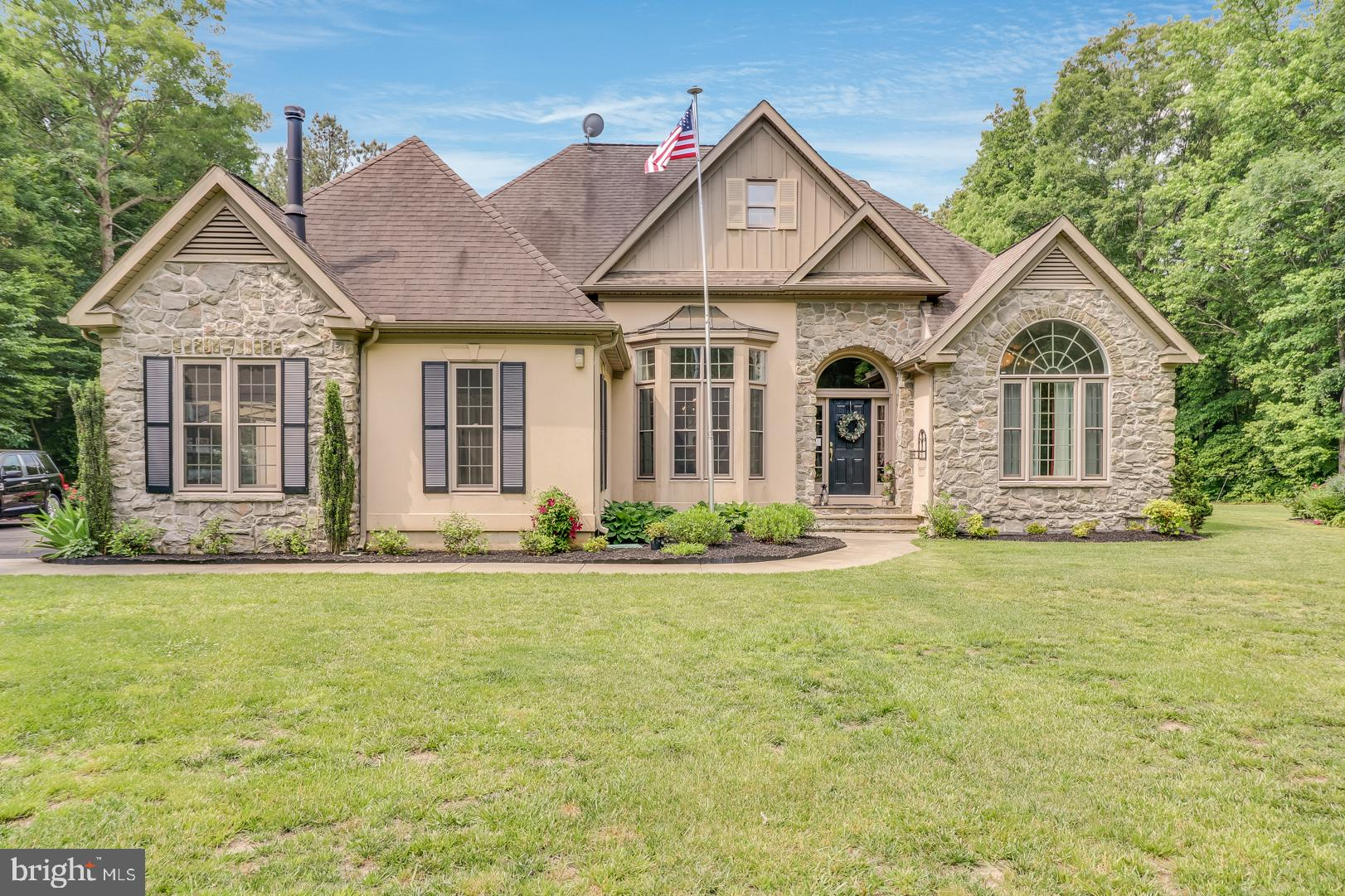 Beautifully designed custom ranch on 14.4 maturely wooded acres! This gem has custom features throughout including crown moldings, archways, 11 foot ceilings, and a beautiful custom kitchen! Meticulous landscaping with irrigation and over an acre cleared for the home site! Detached 24'x36' pole building for your toys & hobbies, plus an oversized attached garage. In ground pool with new liner, gazebo, large patio, and deck! Newer heating system, newer granite counters, and so many custom features!