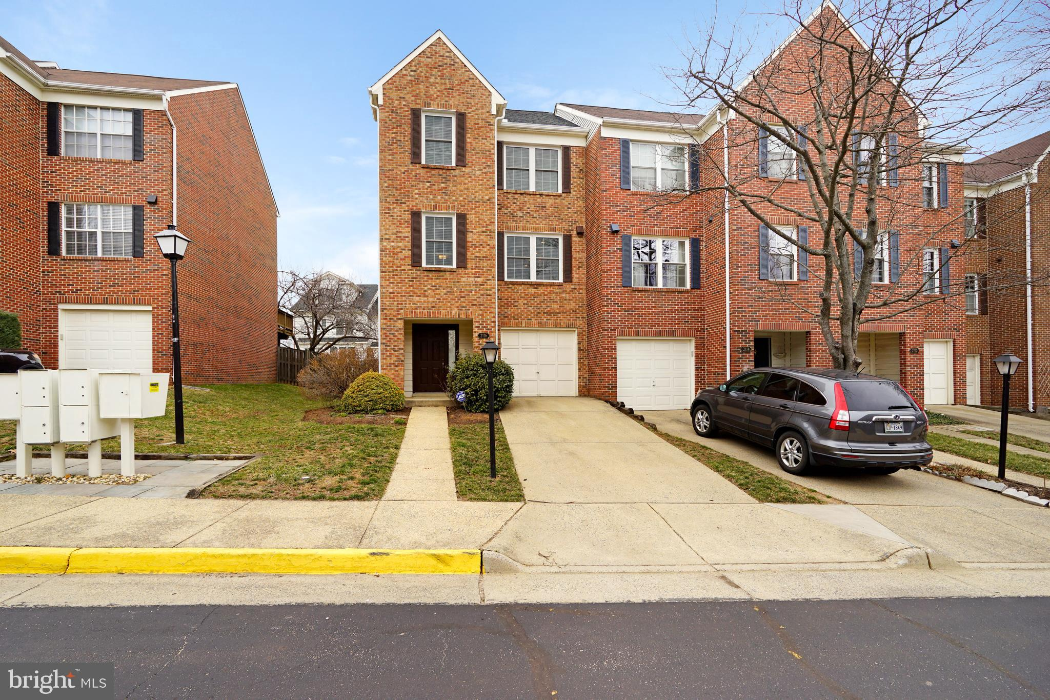 Available July 26th, 1-car garage end unit townhouse in Falls Church near Whole Foods, Trader Joes, 66, WFC Metro or 495/Tysons. Renovated kitchen features island seating, custom built-in storage area, open floorplan with dining room and family room, deck, walk-out lower level with fully fenced yard, primary suite with custom closet, skylight and en-suite, 2 more bedrooms and a hallway bath, full size washer/dryer, newer carpet. Unassigned spaces can be used for guests. Low utilities: $150/mo avg electric, $58/mo avg water. No pets. Photos are from previous tenant. Rental applications due on Monday June 14th.