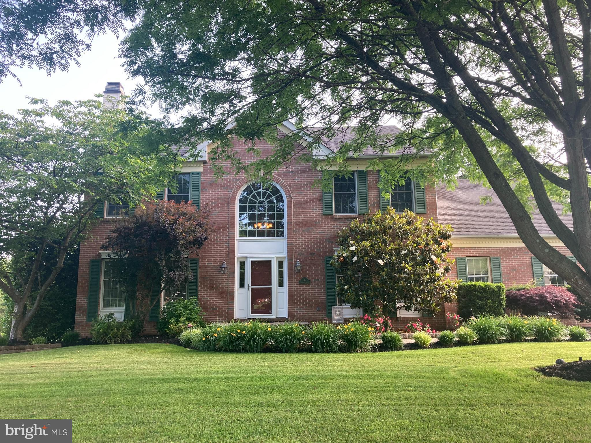 Welcome home to 142 Cromwell Lane! This BEAUTIFUL Colonial in the lovely Brandywine Knoll community is everything you are hoping for.  When you arrive at the property you will be charmed by the professional landscaping, the winding paver walkway, lined by flowering perennials, mature trees and a glorious magnolia.  As you enter, you'll love the elegant foyer with its palladium window and the hardwood flooring throughout the first floor. On your left is the formal living room with deep crown molding, wood burning fireplace and French doors to the large open family room. To your right, is the formal dining room with crown molding, wonderful natural lighting and elegant chandelier. This brings us to the beautifully appointed kitchen!  With all newer stainless appliances (2018), a porcelain farm sink, rich granite countertops, and TWO large pantries, the kitchen opens out to the over-sized two-level deck and spacious fenced back yard.  The main floor also has an amply sized laundry/mud room with a second entrance to the back deck.  The 2nd floor offers a spacious master suite with a huge walk-in closet and master bath with 2 vanities, jetted soaking tub and a stall shower. The 2nd floor has 3 additional generously sized bedrooms, all with ample closet space and an updated hall bath (2016).  In addition to the kitchen appliances, you'll find a newer washer (2019) and HVAC, installed in 2014, which has a 10-year parts and labor warranty.  The finished basement is designed to accommodate numerous activities . . . whether home entertainment, video games, ping pong or pool, there is LOTS of space to relax enjoy.  There is also a separate room designed to be an office or study or crafts room . . . only limited by your needs and imagination!  This is a walkout basement, with an extra wide stairway to the large, totally fenced-in back yard. Brandywine Knoll is notable for its quiet, peaceful sense of community. Located in the West Chester School District, just minutes from the 