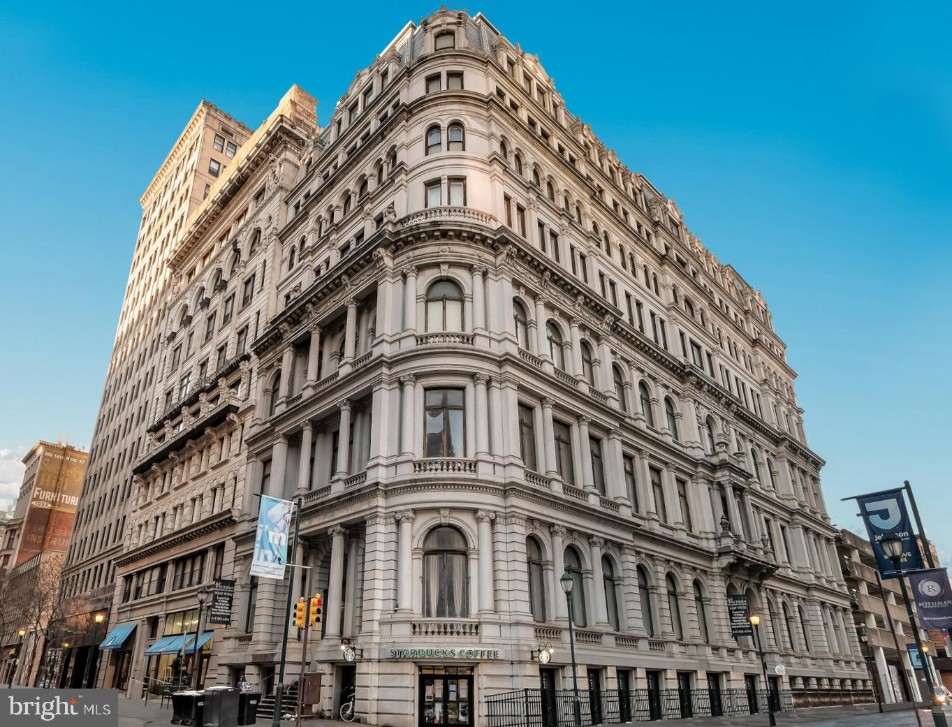 Sun Splashed PENTHOUSE 1 bedroom, 1bath FOR SALE at The Victory building. All open living and dining area. Kitchen with granite counter tops, stainless steel appliances, and fantastic cabinet and counter space. Enjoy living in this magnificent structure boasting one of the most finest examples of 2nd empire French architecture. Directly across the street from Thomas Jefferson University Hospital, just minutes from Pennsylvania Hospital, and Washington Square. Starbucks and Gym in the building.