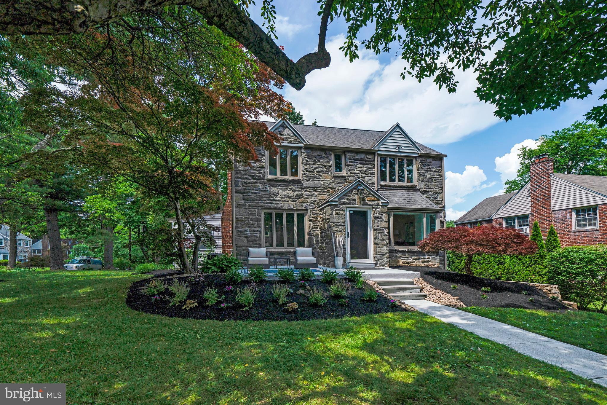 ULTRA RARE opportunity to own a RECENTLY RENOVATED, TURN-KEY, MOVE-IN-READY SUN-DRENCHED 1950'sMAIN LINE STONE COLONIAL in a WALK TO EVERYTHING LOCATION  quietly set on Levering Circle, one of Bala Cynwyd's most desired NO-THROUGH-CUL-DE-SAC STREETS...!Located just steps to Bala Cynwyd Park, the Cynwyd Heritage Trail and only .7 miles to the highly acclaimed Bala Cynwyd Elementary & Middle Schools (nationally recognized as a Blue Ribbon School of Excellence). This traditional 4 Bedroom 2 Full & 2 Half Bath home has been renovated and re-imagined incorporating character and details of a By-Gone Era with Fresh, DESIGNER-Sourced Finishes, Tasteful MODERN Updates, OPEN CONCEPT FLOOR PLAN & MOVE-IN CONDITION. Vestibule entrance opens to the center hall w/ gracious flared staircase, large Living Room w/ refinished hardwood floors & stone, wood-burning fireplace, large gracious dining room w/ picture window, Freshly Renovated Chef's Kitchen w/ Abundant High-End European designer sourced Maple soft close cabinetry w/ gorgeous lacquered finish, glass pulls, Quartz Counters, Subway Tiled Backsplash & High-End Stainless appliances including: 4 burner WOLF Range, Dacor convection microwave, GE Cafe French Door Refrigerator, GE Monogram Oven, Bosch Dishwasher, deep stainless sink w/ sprayer & Instant-Hot OPEN to Large Breakfast Room w/ Wall of Windows & door to the rear patio (perfect for BBQ's, Outdoor Entertaining, Dining Al Fresco) & NEW 1ST FLOOR FAMILY ROOM ADDITION w/ gas fireplace & 3 walls of windows + newly renovated guest powder room & outfitted coat closet. The 2nd level offers spacious Owners Suite w/ 2 outfitted closets & renovated Marble Bath w/ large Frameless Glass Shower+ 3 additional bedrooms w/ outfitted closets & updated Full Hall Bath w/ Floor to ceiling oversized white Tile w/ Mosaic Glass Accent Tub-Shower w/ Frameless Glass enclosure. The Finished Walk-Out daylight Lower level offers Playroom, Full Laundry w/ folding station NEW WASHER DRYER, 1/2 bath, ut