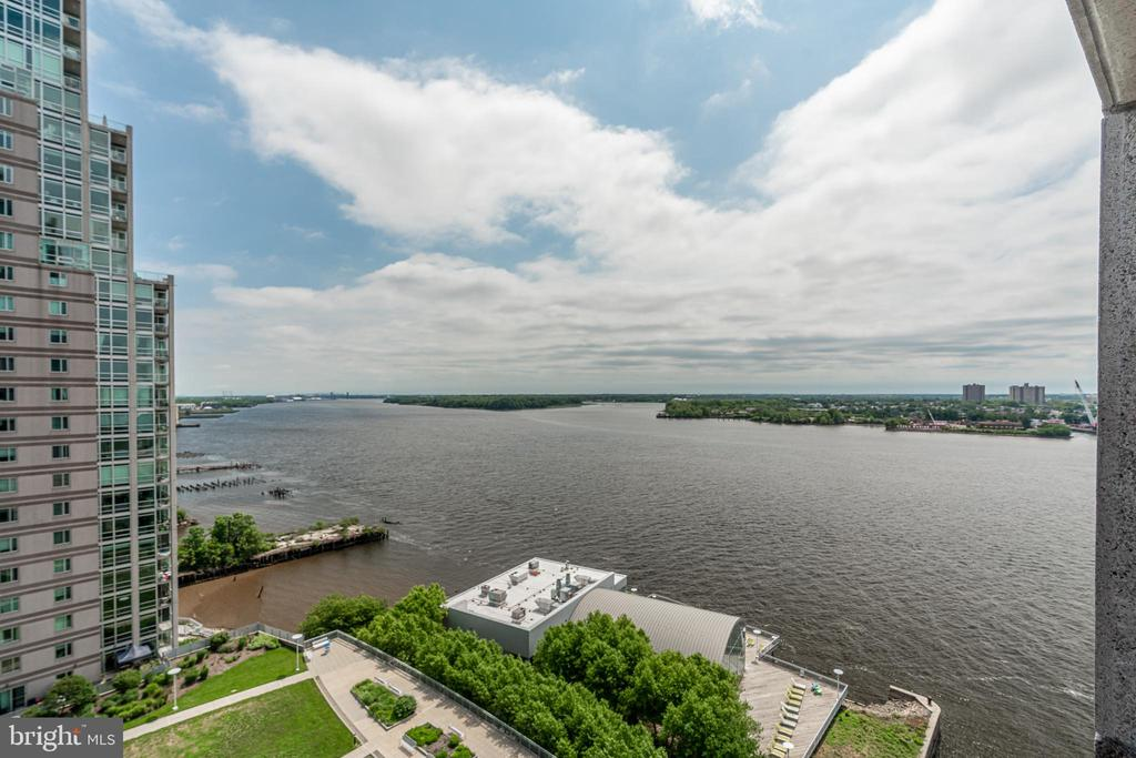 Welcome to Waterfront Square, a luxurious gated community overlooking the Delaware River. This beautifully maintained and updated, 1 bedroom condo offers a large living space with lots of natural sunlight and Northern views of the river and city skyline. This floorplan is rarely offered - the extra space could be used as a guest nook, home office,etc! There is currently a custom Murphy bed installed which conveys with the unit. Unit P1306 also has a balcony right off the living room, to enjoy the gorgeous water views. Condo also includes a VALET parking space, an in-unit washer/dryer, and all the amenities that you could ever desire. This self-contained enclave has 24-hour security, a spa with available services, a convenience store, a state of the art fitness center, a swimming pool, a putting green, a walking trail, and a large landscaped park. The complimentary shuttle service provides easy access to Center City with stops from 2nd street to 30th Street Station. Located in a prime location, just minutes from great dining and entertainment (Sports Complexes and Philadelphia Live Casino), major highways and the bridges into NJ. Luxury living at its finest!