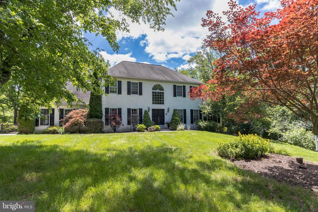 Welcome to  110 Nottingham Drive in the sought after neighborhood of Barton Meadows in East Vincent Township. This  5 bedroom 3.1 bath executive colonial is situated on just over 4 acres of lush lawns and wooded nature filled areas beginning with a long driveway passing the  firepit area and a gazebo! The home features a 3 car side entry garage plus in ground heated pool w/spa-hot tub with inside house  controls. Upon entering you are greeted by the 2-story foyer w/chandelier plus 2 mounted Tuscany landscape paintings by David Mischner that is negotiable. The gathering room/wine room features travertine flooring and a custom dry bar with mirror and wine rack and glass rack.  The dining room is large and glorious with crown molding and chair rail and upgraded chandelier. The kitchen is the hub of this fine home with am amazing Aga Legacy Electric Range featuring 5 burner ceramic cook top Convection,7 mode multi function,broiling oven, hood w/built in spice rack, granite counters plus double copper sink w/upgraded faucet, stainless dishwasher and refrigerator,recessed lighting plus upscale track lighting, large pantry plus powder room and first floor large laundry room all w/hardwood flooring. The breakfast room features a french door that leads to the 2-tier deck 16x30 plus lower level 20x14 that overlooks the patio that leads to your own private oasis! Back inside; family room with masonry wood burning fireplace, ceiling fan w/lights plus recessed lighting plus extra large french doors for additional entry to deck. Wonderful vaulted ceiling office with beadboard chair rail that is perfect for working from home! Upper level with owner suite with tray ceiling plus ceiling fan w/light. Two walk in closets plus two large additional closets plus pull down attic access,  owner bath with large jetted tub, double sinks plus shower.  Three additional bedrooms with large closets; one with extra 10x12 bonus room plus  lovely hall bath. Wait; there's more! Lower level with play