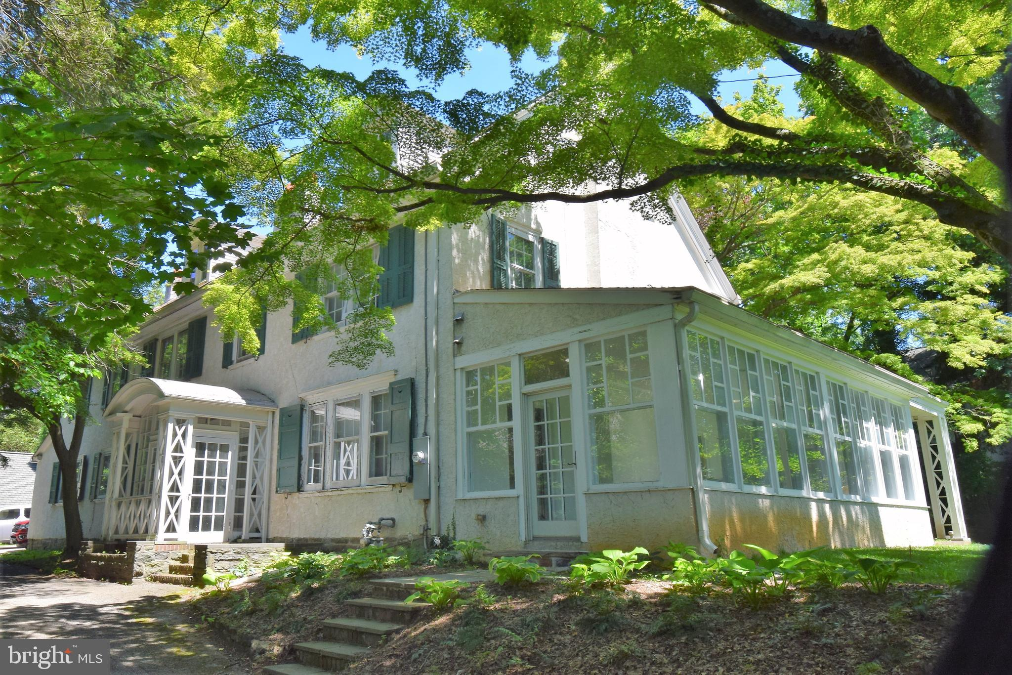 Can you say potential? Diamond in the Rough, Classic Main Line Colonial w/ 4,634 SqFt, 7 BedRms, 4.5 Baths, & 4 Fireplaces. Wide 3-story, front staircase highlights the charm & craftsmanship of a home built in 1890. Updated w/ gas heat and central air, Sun Rm w/ radiant heated floors was added in 2003. Ideally located on a half-acre lot across from the Baldwin school playing fields. Private driveway leads to detached 2-Car garage that also has a basement & BathRm (no longer working). Listed more than $350,000 under Zillow's estimate, see this value with a vision.