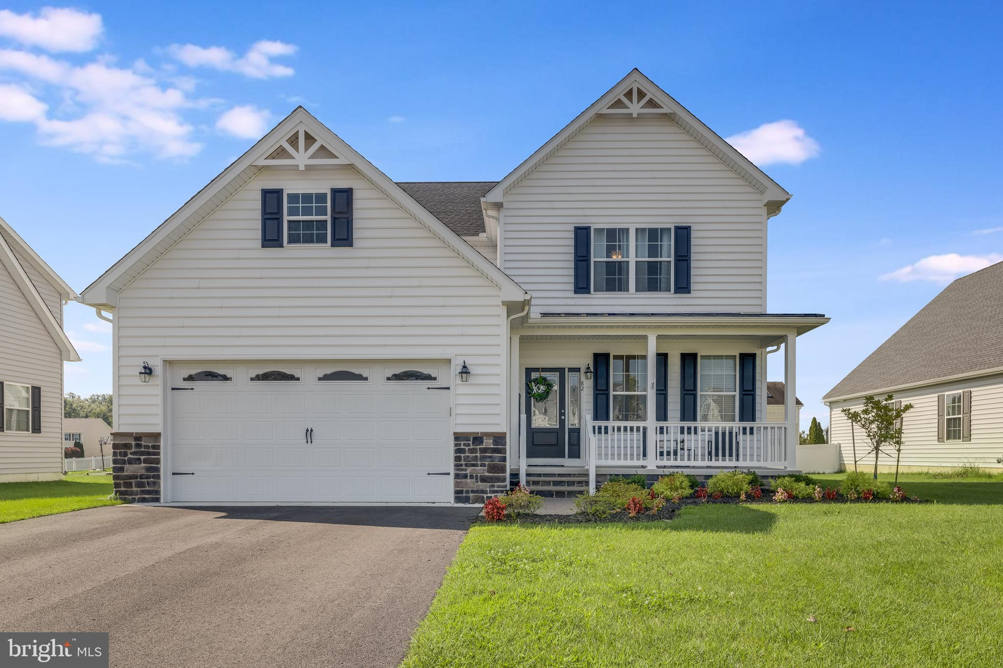 Spacious 2 story home. This model features the Master bedroom on the first floor with a walk in closet, spacious bathroom with a fiberglass shower and private toilet and double sink vanity. Has unfnished basement with full bath plumbing rough in. sod and irrigation. Unfinished attic space above the garage and unfinshed storage upstairs as well. Laundry room located on first floor with a beautiful granite top laundry sink. Some features in this home include 9ft ceilings on the first floor, 42 inch cabinets in kitchen, granite counter tops, stainless steel appliances and more! Please call to schedule a showing today! Settlement late February 2022 or March 2022!