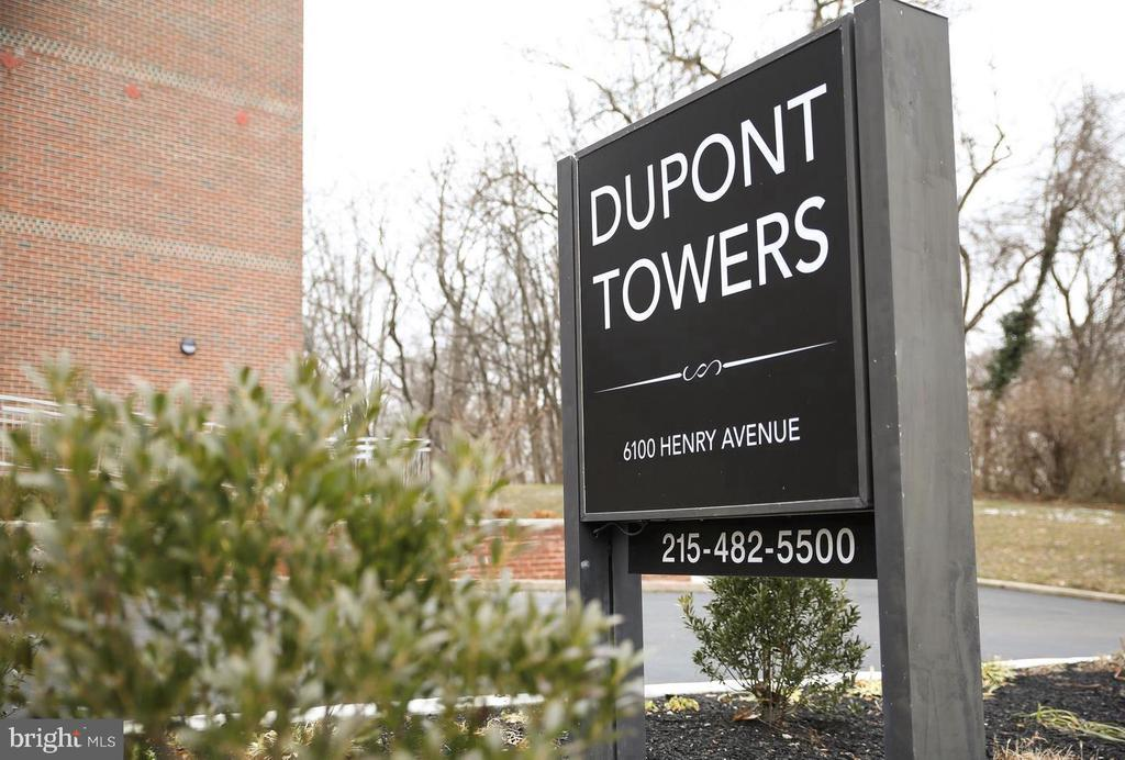 """Convenient first floor condo in sought after """"Dupont Towers"""".  Newer kitchen, newer carpet, new A/C, heat. Condo fee includes everything, all utilities, heat, hot water, sewer, electric, cable and A/C and POOL! Close to buses, trains, shopping, Main St. in Manayunk and Fairmount Park is just across the street."""