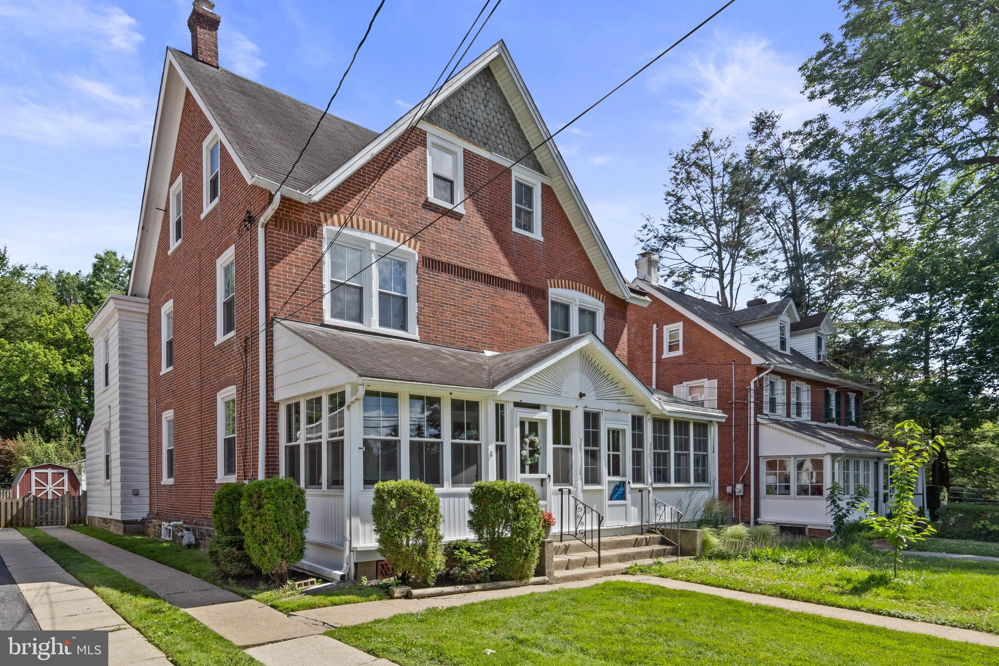 PRICE REDUCTION!!Looking to move into an affordable property in Radnor Township??...well now is your chance.  This impeccably maintained  brick twin in the heart of the Old Oaks section of Radnor dates back to the 1800's and has been loved by the same family over the last 100+ years. With heavy hearts they are selling this adorable home that has provided many cherished memories for multiple generations. It is time to pass it on and is a wonderful opportunity to make it your own.  Charm abounds  as an inviting front Porch welcomes you providing  streaming natural sunlight into the soul of the house. Gleaming hardwood floors carry you from the Living Room into the Dining Room and new windows can be found throughout.  The eat in Kitchen has been updated with stainless steel appliances and has access to a Mudroom that overlooks the manicured fenced-in  backyard. There are three nicely sized Bedrooms on the Second Floor with a Full Bathroom.  The Third Floor has a very large room that could be used for multiple purposes including a 4th Bedroom, Office and/or Gym. The owner has completed a pre-inspection and is happy to provide any interested buyers with the report. All showings begin THURSDAY JUNE 24th.