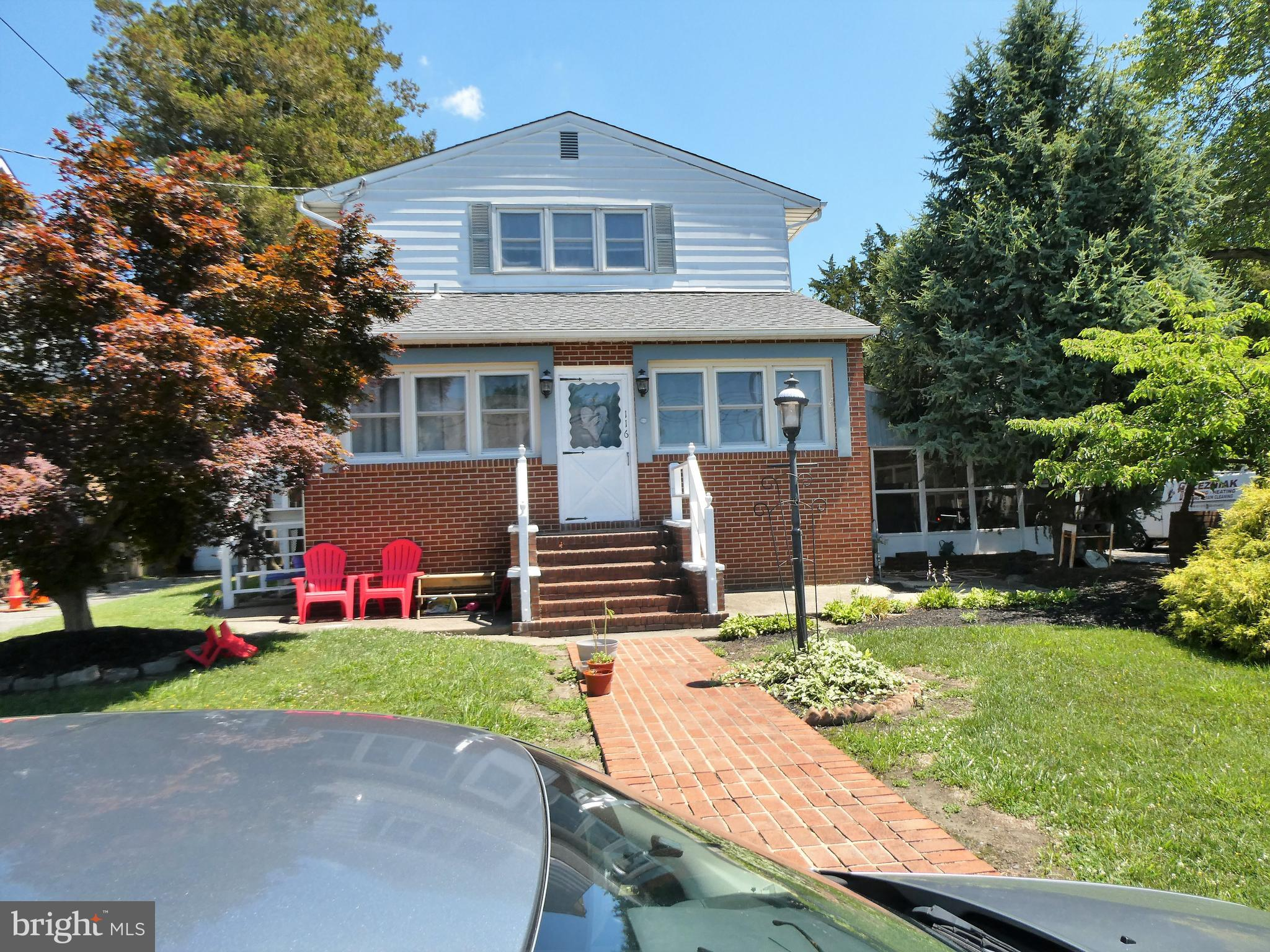 """Great Investment Property!!! Duplex with 4 car garage. (2) 1 bedroom units, Gas heat, Central air on 1st floor only. Public sewer and water, Huge yard 100x 300, Massive carport attached to 4 car garage. Garage is heated. Present income $33,600 yearly, rent garage for $6,000 yearly, Almost $40,000 yearly income. Large paved parking area, 1 block off White Horse Pike, Minutes from 295 and Philadelphia bridges, All income and expenses listed in documents. This duplex can easily be converted back to a single family home. This is an """"Estate  Sale"""". Seller will not be responsible  for any repairs or certifications, Buyer responsible for everything."""