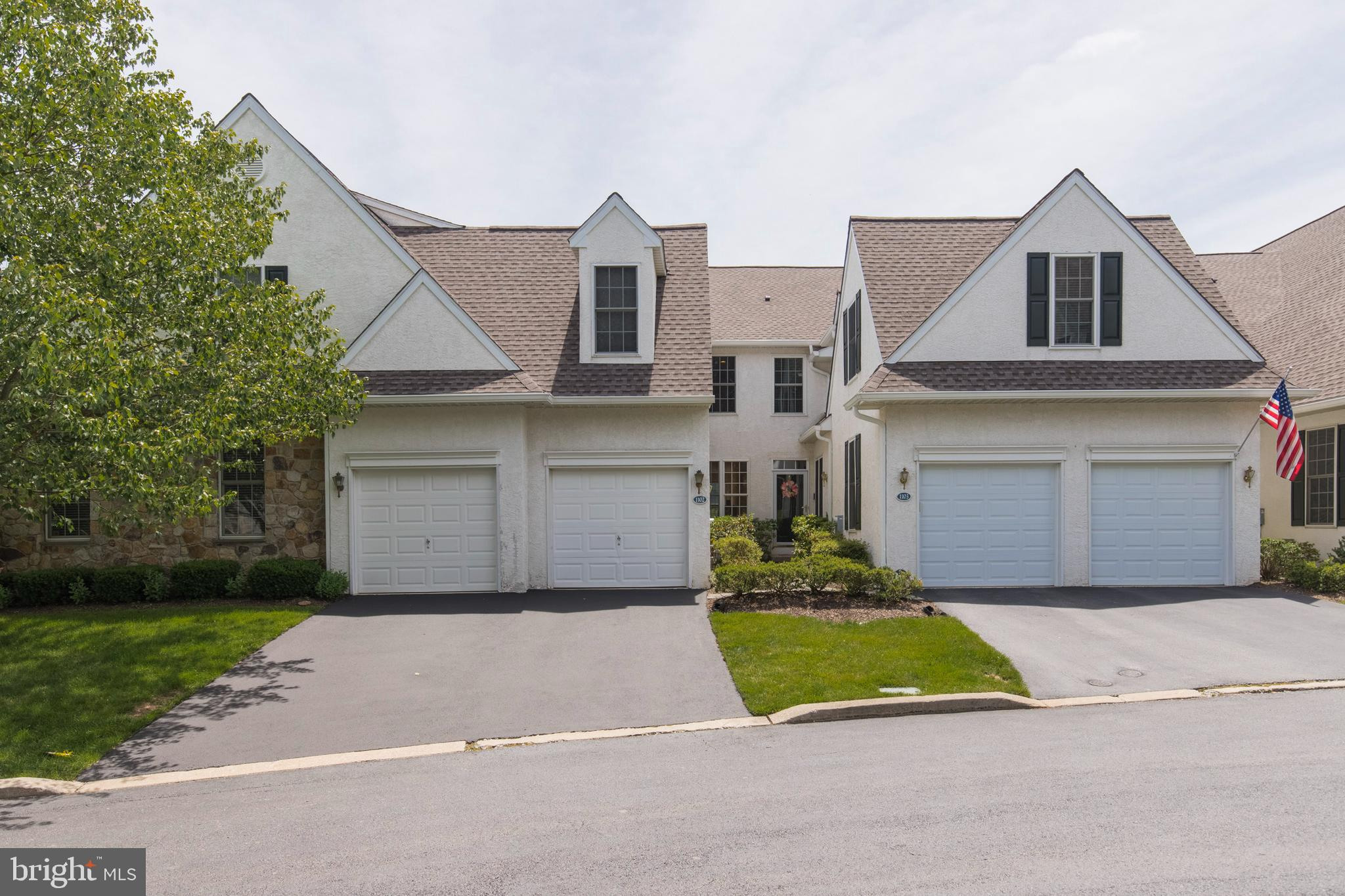 """Nestled in the highly sought-after community of Penns Preserve. This beautiful Townhome is set on a picturesque lot, offers 3 Bedrooms, 3 full Baths plus, a Powder Room. Set in a peaceful location, backing up to the slightly wooded open space & surrounded by 37 Acres of preserved land.  You will love the open floor plan of this fabulous home. The modified floor plan boasts a 20' x 17' stunning white Kitchen! Enter the Foyer, glistening hardwood floors catch your eye. Double glass doors open to the Dining Room, featuring built-in server with granite countertop & glass display cabinets. There is an easy flow from Dining Room to Living Room,  perfect for entertaining a large crowd.  Enjoy a cozy evening by the fireplace in the Living Room which opens out to the Deck.  Step out on the oversized deck to Dine Al Fresco, while enjoying this nature lovers retreat. A wall of windows overlooking the picturesque grounds is simply stunning.  Spacious Breakfast Room offers the same view. The bright white Kitchen boasts white 42"""" cabinets with Corian counters and a tile backsplash.  The appliances include, gas range (every chef's preference), microwave, dishwasher, garbage disposal & refrigerator. A large Buter's Pantry & Convenient Powder Room complete this level.   An abundance of large windows & recessed lights brightens each room in this wonderful home. Step down a few steps to the Finished Walkout Lower Level. Plenty of extra entertainment and living space here! Gas Fireplace will create atmosphere! Friends & Family will gather around the Wet Bar before venturing out to Deck. A separate room is perfect spot for a home office, gym, or guest room. The full Bathroom adds convenience. The 2nd Floor houses the Master Bedroom Suite and 2 additional Bedrooms and Bath.  The Master Bedroom Suite is a perfect place to retreat, reflect & rejuvenate! Two organized walk-in closets will make picking an outfit a breeze!  The Master Bath features a double bowl Vanity, Stall Shower & Jacuzzi"""