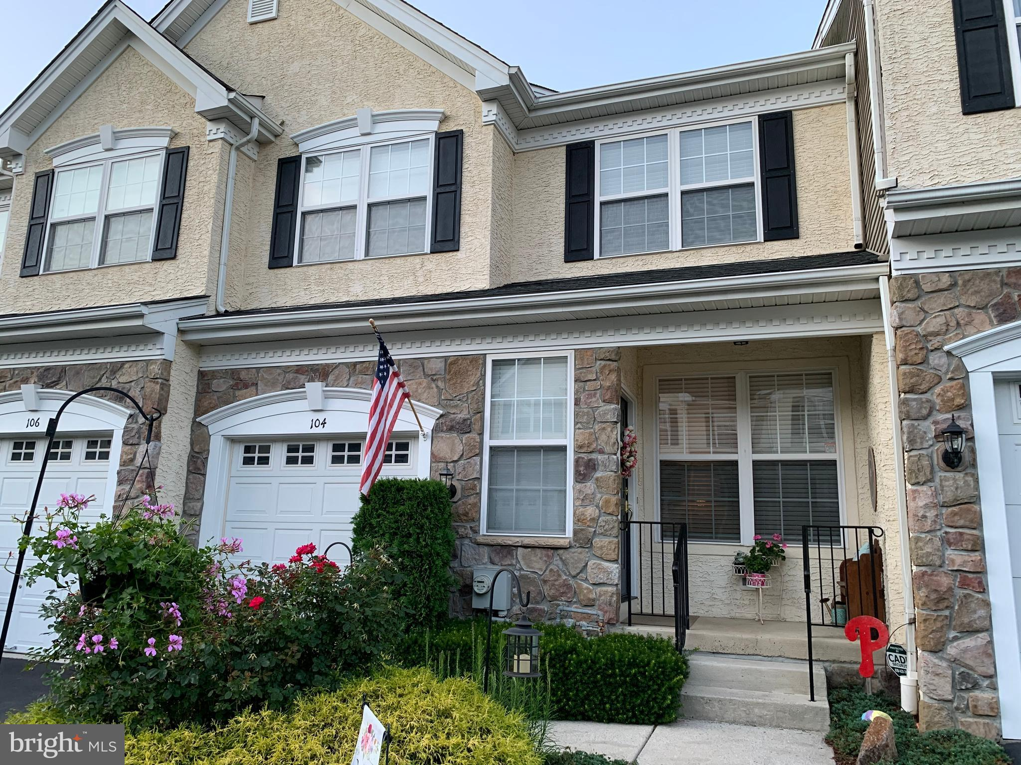 """Tucked in the lovely sought after Willistown Hunt Community, is this spacious 3 bedroom / 4 bath townhome unit that could suit all your needs.  This townhouse is currently rented until April 2022 so it could be used for an investment opportunity, or a temporary investment then take advantage of the extra time for a 2022 move in date. Enter from the quaint front porch into the spacious living room and dining room which features bright lighting, open floor concept, wainscoting, crown molding and sparkling hardwood flooring. Continue through to the family room which boasts a 2-story cathedral ceiling, a gas fireplace which is enhanced with large windows on each side and a breathtaking atrium window that showcases the room.  Enjoy cooking in this amazing eat in kitchen accented with granite countertops, 42"""" maple cabinets, peninsula seating, stainless steel appliances including a brand new microwave and oven/range and a large pantry closet.  Sliding glass doors allows an exit off the kitchen onto the trex deck flanking beautiful tranquil wooded views perfect for relaxing after a hard days work.  Completing the first floor is an exit/entrance into the garage and a powder room with ceramic tile.  The upper level brandishes a large master bedroom with a trey ceiling, recessed lighting and ceiling fan.  Step right into this fully equipped master bath and enjoy the soaking tub or standup shower and spacious vanity area.  Carry through down the hallway and celebrate an upper level laundry area with newer ceramic tile floor, a washer and dryer along with a laundry tub.  Finishing out that level are two additional bedrooms and a full bath.  Set your heart on this vacation like basement that is sure to excite.  This daylight basement is enhanced with surround sound, custom built in shelving, an electric fireplace, recessed lighting, a beautiful bar with bar seating, custom built pool rack, ceramic tile floor, three storage areas and an additional half bath.  A new roof has just """