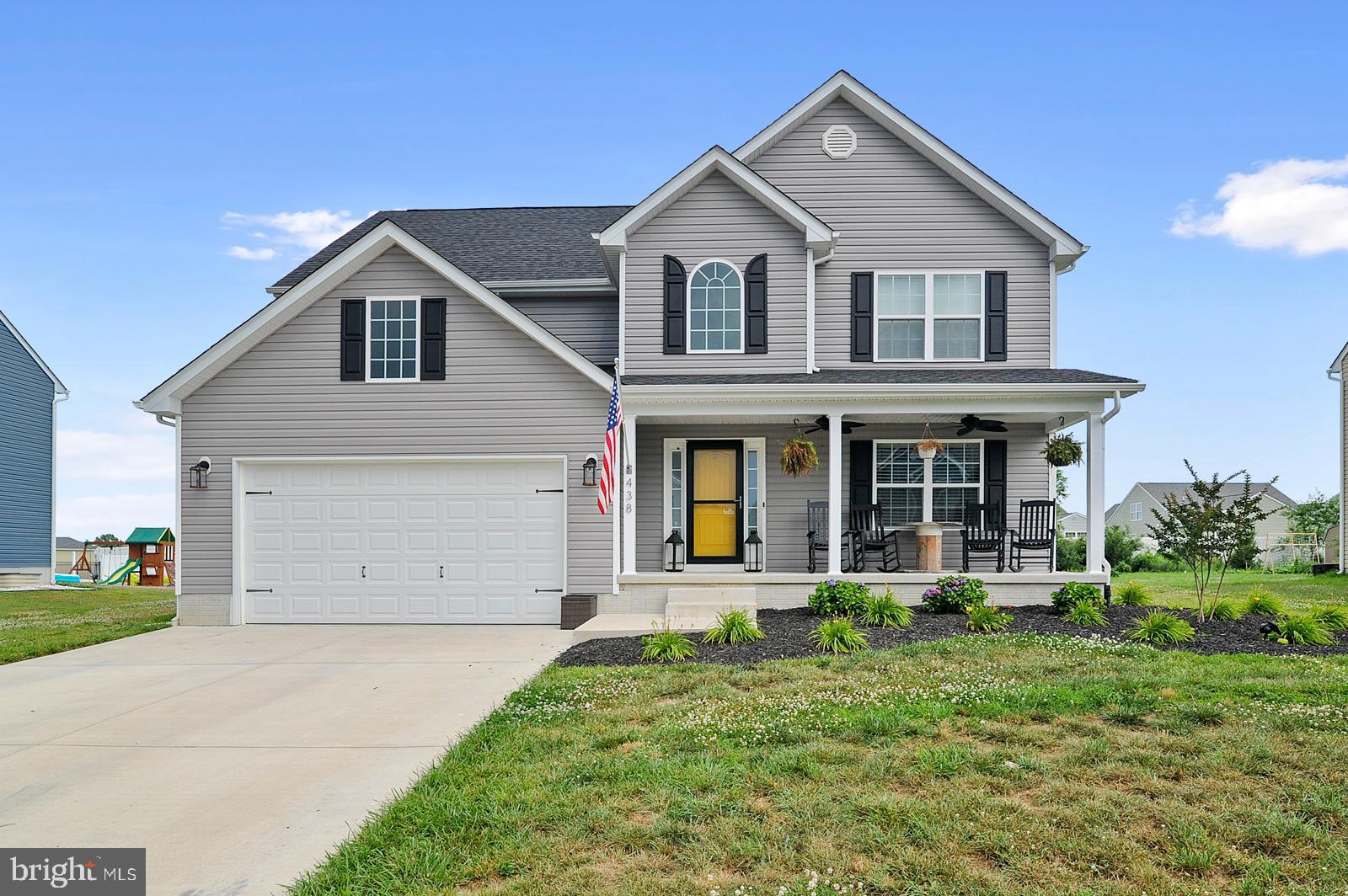 --OPEN HOUSE 07/03/21 - 3:00PM-5:00PM!!!-- Welcome to 438 W Birdie Lane in Magnolia! Built in 2018 and located in Jonathans Landing just walking distance from the golf course and clubhouse. This home offers a main level open floor plan complete with a formal dining room, oversized kitchen and pantry,  access to the garage and basement along with a 22 by 14 great room and 1/2 bathroom.  The entire first floor has Luxury Vinyl Plank flooring; easy for clean up and very pet and kid friendly! Kitchen upgrades include stainless steel appliances, a walk-in pantry, ice machine, and granite countertops. The second floor combines all four bedrooms along with an extended laundry/mud room.  The primary bedroom is spacious and gives access to lots of natural light. A freestanding tub, ceramic tile with glass door shower, upgraded plumbing and light fixtures with his and hers separate vanities are all included in the primary bathroom. This home is located on .33 acres and includes a front porch with double fans, a back Trex deck, concrete patio and gravel area with above ground pool. Schedule your tour ASAP as this home won't last long! Professional photos will be uploaded on 07/02/2021.