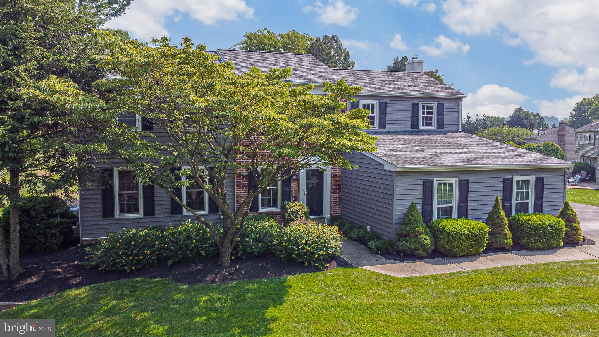 The wait for the perfect home at the right price to hit the market is over! Welcome to 221 Shropshire Drive in desirable East Bradford Township. At last, a home in an established neighborhood is available that requires no work. Everything has been updated so this property is ready for its new owner.  The home sits high on the private lot and has great curb appeal.  Walking up on the recently repaved and sealed driveway you will immediately notice the numerous exterior improvements and upgrades.  The roof, gutters, siding, shutters, windows, skylights and doors have been upgraded and replaced.  Another exterior upgrade is the extensive landscaping upgrades.  Green giants were planted at the rear providing more and more additional privacy over time.  It gets better because a tour inside is a real treat.  It has all the must have's and with supersized rooms, it's larger than it appears.  The main level has gorgeous hardwoods and custom millwork.  The level is highlighted by the kitchen and family room.  These are the rooms you will want to spend your time.  The kitchen with breakfast area has granite counters, gas cooking and stainless appliances.  It opens to the huge family room with wood burning fireplace, recessed lights and sliders to the porch.  The upper level is highlighted by newer carpets, upgraded fixtures, a large primary bedroom suite and FOUR additional bedrooms.  Need more space?  The finished basement provides over 600 square feet of additional living space and has a separate storage area.  All this in a super convenient location only minutes to all the Borough has to offer. There is unbelievable value here so schedule a tour and come see for yourself.  Act quickly because this opportunity won't last long!
