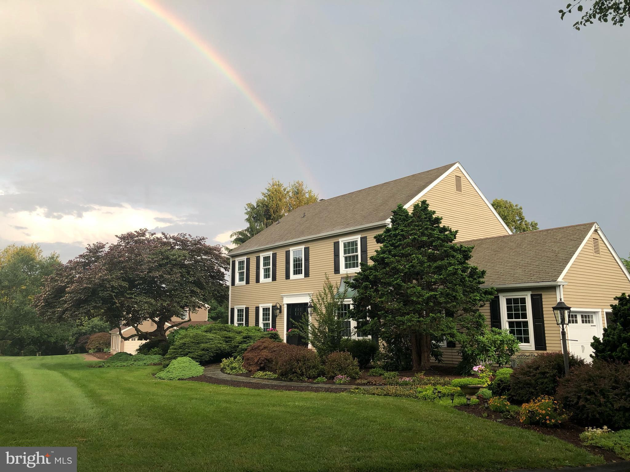 """Welcome to an excellent maintained and updated throughout """"Chester County Colonial"""". This home is absolutely """"turn key / move in ready"""" as the current owners spared no expense or hard work currently and over the years to create the one of a kind family home. Located in very quiet and quaint neighborhood; the one acre lot provides all the privacy needed to enjoy the beautiful pool w/spa along with sufficient outdoor space to barbecue and visit with your friends and family. As you enter the home, you are immediately greeted by the beautiful hardwood floors which you will realize run throughout the home. To the right is the recently painted dining room with its front bay window, chair railing and stately crown molding; which actually runs throughout every room in the home. Adjacent to the dining room is the butler's pantry and the fully renovated gourmet kitchen with its stainless steel appliances, 10' center island with seating for 6, beautiful white cabinets, granite countertops and sliders to the deck and outdoor space.  The open layout combines the kitchen and family room with the new gas fireplace, peninsula with seating, crown molding and plantation shudders. The full basement was newly painted throughout with new carpeting installed and also provides sufficient storage with easy access to the home's mechanicals. The second floor has a master suite with dual sink vanity, large soaking tub, and shower. The other 3 large bedrooms, center hall, laundry room with new washer and dryer, hall bath complete the 2nd floor. The pool, hot tub, waterfall provide the perfect outdoor oasis for anything from a private retreat to hosting family and friends for that special get together while being secluded due to that large backyard. The borough of West Chester is just a short 5 minute drive and there's easy access to routes 322 and 202 for any trip to King of Prussia, Downingtown, Wilmington, and just a 30 minute drive to the Philadelphia airport. Please make your appointment a"""