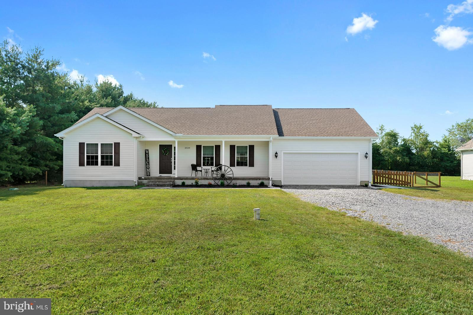 Here it is!  No HOA and Caesar Rodney School District!  Do not miss this 3 bed, 2  bath, 1-story home sitting on .75 acres.  It is more than move-in ready, it's practically brand new!  You will love the fresh look/feel of this home with luxury vinyl plank flooring, gray kitchen cabinets, granite countertops, stainless steel appliances, vaulted ceilings in the living room, ensuite in the primary bedroom, the cutest laundry room, front porch to sip coffee, and a yard that you dream of!  A deck off the back and a fully fenced-in yard with trees(!!)- you have the perfect blend of entertaining space and serenity.  Quiet neighbors!  This home qualifies for 100% financing!  Don't forget to check out the 3D 360 degree virtual tour!