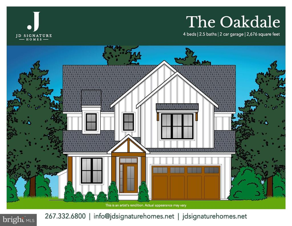 """JD Signature Homes is proud to announce the opening of  Meadowbrook Square situated on a corner lot in an established neighborhood in the acclaimed Neshaminy School District.  Lot 2 will be home of The Oakdale model from JD Signature Homes Modern Farmhouse collection and will be packed with every amenity on ones wish list.  Beginning with  curb appeal featuring exterior board and batten vertical siding,  2 car garage, charming front porch . Step inside to find """"gather"""" comfort mixed with chic livable luxary...high 9""""ceilings  on first floor, the foyer features stylish wood look wide plank floor which leads to a den which would be perfect for a home office. As you continue into the home  the foyer stairs are lovely with oak stained treads and handrails  with crisp white  painted risers.  This spacious home boosts the open concept living - sizable great room features a fireplace viewable from the gourmet kitchen with large island, 42"""" soft close wood cabinets, granite counters, SS appliances,  subway tile backsplash with pantry and mudroom.  Adjacent to kitchen is dining room with exterior access for your alfreco dining or entertaining. Head upstairs to peaceful owner's suite which has a walk in closet and luxury bath with dual sinks, separate shower and soaking tub for all the pampering needed. Completing the second floor are 3 sizable bedrooms and full bath with dual sinks. Fresh. Clean & Totally New. These homes are built with quality and excellence. 1 year builder warranty on all homes. Lot 1 is also available and will have The Birchwood Model with many options. See attached floor plans in documents along with our Superior Features included on our Modern Farmhouse Collection. Now accepting appointments. Please contact Shari, Sales Manager for additional information or to set up appointment in our Sales & Design center located in Hatboro. 267.332.6800"""