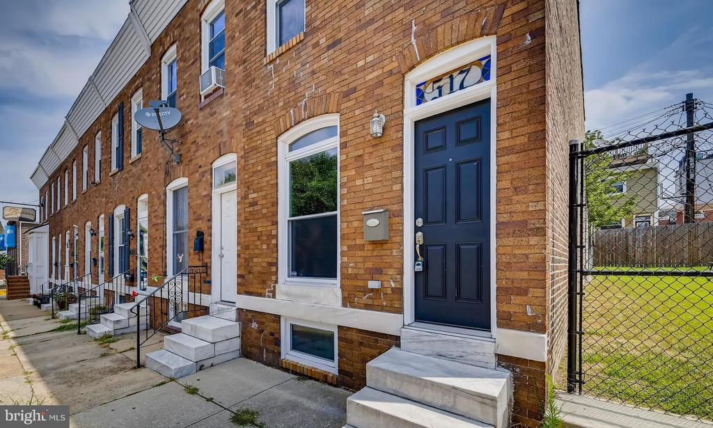 This spacious end-of-group rowhome in Canton is for sale! Boasting three bedrooms, two full and one half bathrooms, this rowhome has it all. Featuring a classic brick front, hardwood floors, CAC, forced heat, fresh paint, new light fixtures, stained glass,  restored interior brick, newer stainless steel appliances and upgraded countertops, ceiling fans, skylights, and more. Plus, a fully finished lower level with the third bedroom and a fenced-in rear patio to enjoy time with friends outdoors. Conveniently located in Canton close to downtown Baltimore, Patterson Park, the Canton Waterfront, Fells Point, Johns Hopkins Hospital & Johns Hopkins Bayview, and commuter routes I-95 and I-83.