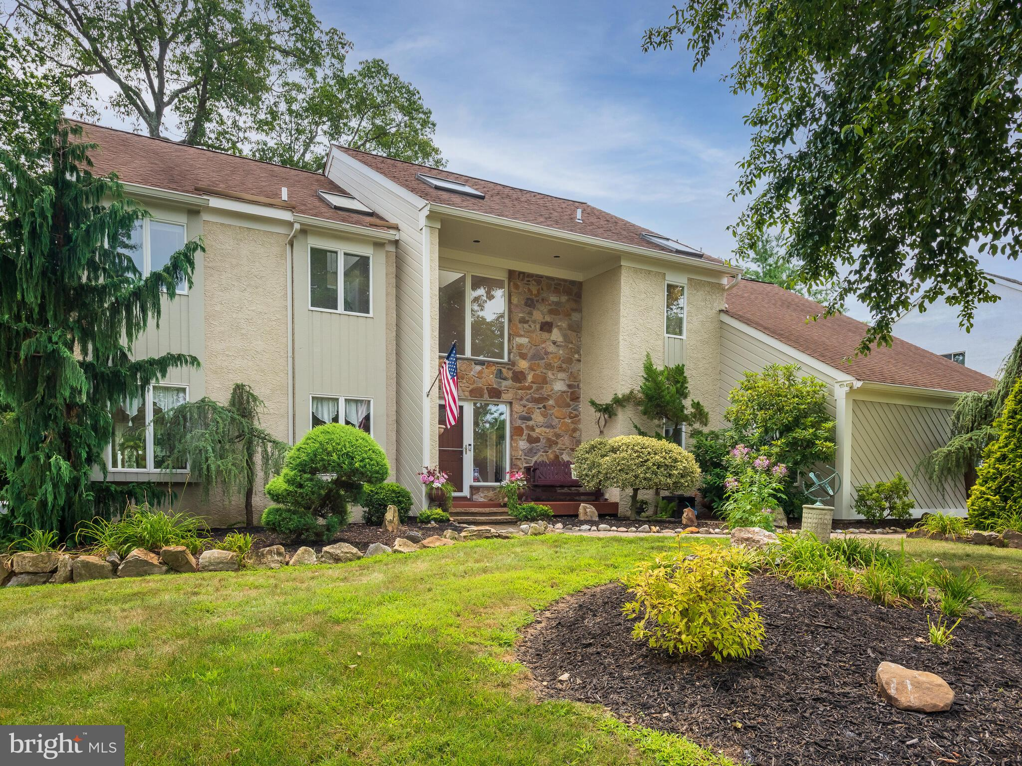 When amenities, condition and location are desired - look no further - this home has it all.  Curb appeal is optimal in this beautiful 4 bedroom 2.1 bath home in the West Chester School District.  The owners have lovingly maintained this amazing  home that boasts a bright and sunny welcoming foyer with hardwood flooring.  The formal living room and large dining room enjoy lots of light, beautiful hardwood flooring and provide the perfect space for entertaining.  The eat-in  kitchen has been updated and features plenty of cabinets, granite countertops, stainless appliances, under-mount lighting and sliding doors which access  the deck and the hot tub. The family room creates the perfect space for family get togethers and movie night and has as its focal point a beautiful stone fireplace and opens to the sunroom adding additional space to enjoy the many amenities found in the backyard.  Speaking of the backyard - wow - its the place to be in the summer.  The swimming pool with new liner is flanked by beautiful landscaping and hardscaping and ready for the hot days of August.   When it's time to close the pool enjoy the benefits of  the hot tub all year long. The second floor is home to a large master suite featuring an updated bath with soaking tub, walk-in shower, double vanity and an amazing close to shopping, transportation, commuter rail lines and easy access to major highways - location is prime!  Come make this amazing house the place you call home!! set.