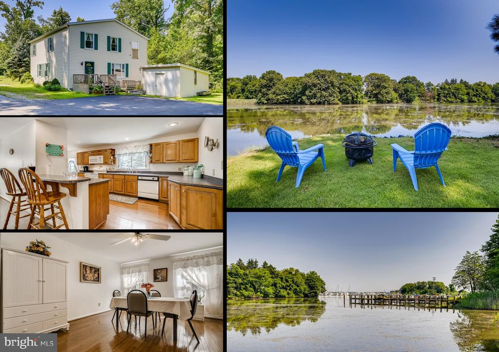 Waterfront Property overlooking Sue Creek & Middle River.  4 bedroom Colonial style home situated on over 1.87 acres of waterfront land, 220 feet of water frontage, sub-dividable lot (confirmed by Baltimore County) with expansive views of the water & the Baltimore yacht club.  Boat ramp/launch, huge flat backyard overlooking the water.  The home has over 2,000 square feet of interior living space (3,000 total interior space including the basement).  You can buy the property, sub-divide the land into 2 lots & build another waterfront home & keep the exiting home as a guest home, in-law house or rental property.  Or keep just this house on 1.87 acres of land for ultimate waterfront privacy.  Remodeled kitchen with breakfast bar, double sinks, tons of cabinet & countertops space, gleaming hardwood floors in the kitchen & dining room.  4 spacious bedrooms, laundry room on the main level, bathroom on the main level.  Paved parking for 4 vehicles.  The property also features a large storage shed which also could be a workshop.  (Dates of Upgrades: Roof 2013, Heating & A/C system 2016, water heater 2012, windows 2018, kitchen remodel 2008, wood floors 2008).