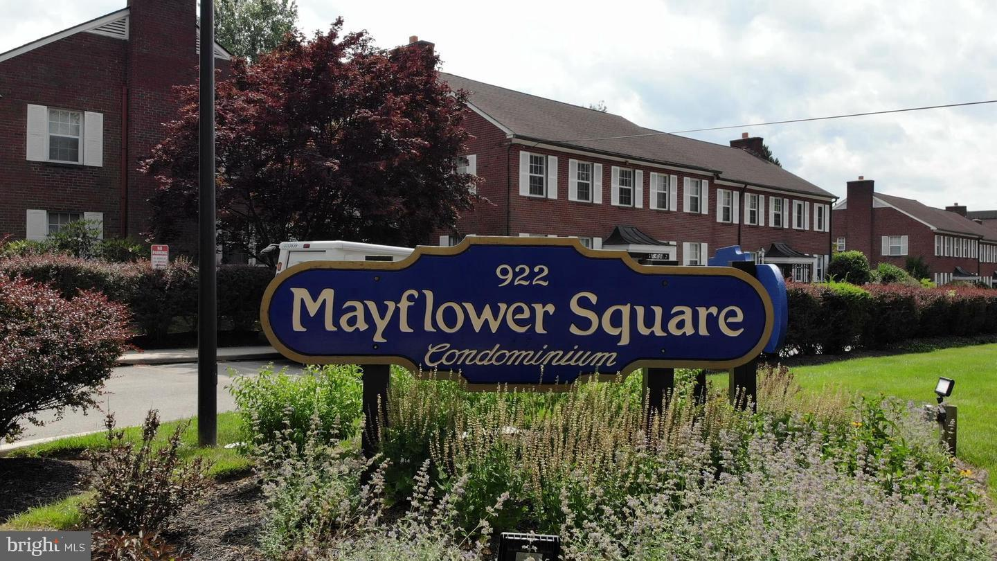 Welcome to the Mayflower Square Community! There are 4 units shared one building entrance. This subject unit is the end unit on second floor.  Bright natural light inside of the unit and surrounded by beautiful court yard with flowers and plants.  Spacious Living room entrance with skylight and double sliding doors leads to the balcony with a full view and can breathe the fresh air from the courtyard garden. Upgraded eat-in kitchen with granite counter top, maple cabinet and dishwasher. Electric cook top. While drinking coffee on your breakfast table, you can look through the craft display window into the front parking spot and trees in the front parking lot. The master bedroom features a closet, a good size master bathroom with tub, vanity cabinet and a ceiling fan. Master bedroom sits very privately, faces backyard and can view the beauty of the courtyard and the balcony. The second bathroom with shower is next to the kitchen and also connects to the 2nd bedroom. The 2nd bathroom has access from hallway and 2nd bedroom. The 2nd bedroom has a ceiling fan and windows facing front of the building and the rear side. The stack-able washer and dryer combination hides in the hallway with wooden blend doors. A spiral staircase takes you to the 2nd level with the 3rd bedroom with a large closet and a full bathroom/shower. The central HVAC unit and hot water are in the unit in the crawl space on the 2nd level. A storage is in the basement and you can go to lower level designated parking spot in the garage from the basement. Close to the Paoli/Thorndale train station, shops and restaurants. Near local colleges and hosiptal. The unit is currently being occupied by graduate students on a lease that ends in July 2022. Rent is $2,100/month. Good cash flow and low condo and maintenance fee . Great investment opportunity.