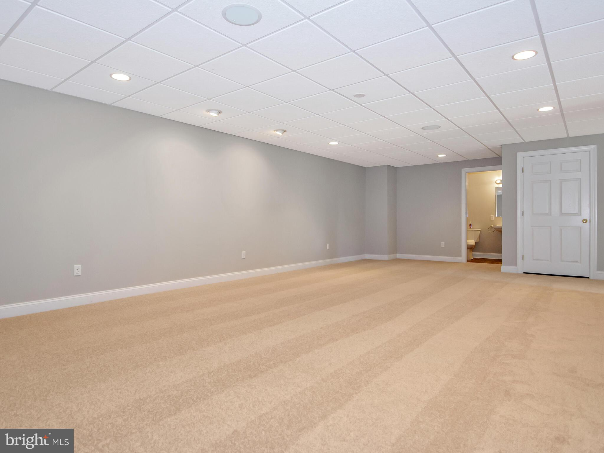 Lower Level Recreation Room with Full Lower Bath