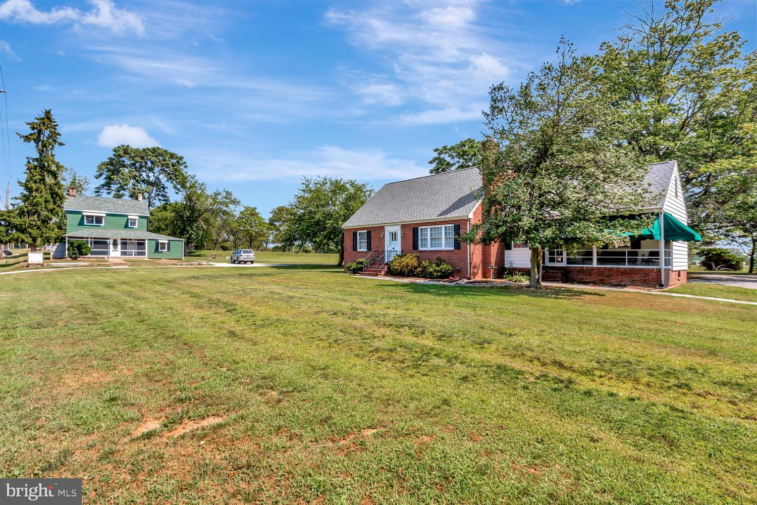 """Opportunity of a lifetime! There's nothing like it in New Castle County! Two houses on .98 acre parcel surrounded by Delcastle Recreational Park and facing Delcastle Golf Course! Live in one, rent the other and have instant income! The main house is a charming cape cod, custom built in 1957 with 4 bedrooms, 2 full baths, spacious eat in kitchen with island, a fireplace and a screened porch. It has been recently painted and has solid wood doors, refinished hardwood floors, thermapane windows, stainless steel gutters, new roof and new septic system. The farmhouse or """"Green House"""" as the owner calls it, is the original farmhouse that was built in 1850 and has been updated to include modern conveniences without losing its historical charm. Some features are; original stone fireplace, long leaf yellow pine floors, bullseye glass in front door, exposed rafters and more. Updates include, thermapane windows, central A/C, new roof and new septic. It has 2 bedrooms and 2 baths, it's own garage and work shop. This unique property can be yours if you hurry!"""