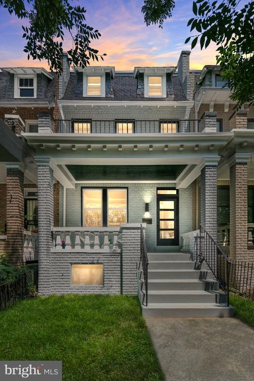 Beautiful in Bloomingdale, 13 Adams, where character meets modern updates! The first floor boasts gleaming refinished hardwood floors, a spacious living room that opens into the brand new open kitchen and dining room. Beautiful original french doors allow you to flow into the back bonus room which could be used as additional living space and has a stunning view of the sprawling backyard. Upstairs there are three sizable bedrooms and a beautifully renovated full bath. The back bedroom opens through to the home office which also has a view of the green and serene backyard. The finished attic is great for additional storage or a home yoga/workout room. A finished basement features polished concrete floors, a large bedroom, full bathroom, and laundry area that complete this adorable row home. Step out back to the fenced in huge yard and a patio which is great for entertaining. A one car garage sits at the back corner of the lot. This home is a blooming bloomingdale treasure that will check all of your boxes and is move-in ready! The location offers easy access to the restaurants of Bloomingdale, parks, and more!