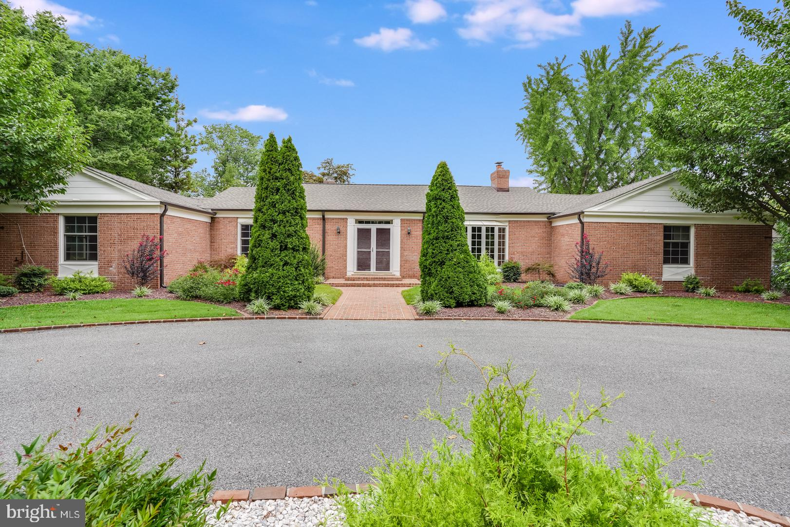 """THIS IS NO ORDINARY HOME!  One of a kind brick ranch in OLDE Dover with 1.15-acre lot w/approximately 3108 sq. ft. with views of Silver Lake and has brick walkways and patio, circular brick lined driveway and quality built unlike newer homes.  The sellers have done some recent updates like new roof, gutters, air ducts were  Aerosealed for efficiency and to eliminate  leaks and reducing heating costs, new skylight in kitchen and fresh paint.  Previous updates for this home were new kitchen w/granite counter tops w/oversized refrigerator/freezer, tile floor and lots of cabinet and counter space and most windows have been replaced in the home. Lovely hardwood floors are in all rooms except baths and kitchen and this home is a residence with a gracious setting and elegant approach to traditional style.  As you enter through the double entry doors to the wide entry hall, immediately to your right is the family room with brick fireplace and hearth, ahead from entry hall is the formal living room with marble surround fireplace and built-ins and carved wooden doors closing off the large dining room to the right w/built ins.  From there is a view of the large sunroom w/tiled flooring and built-in cabinets and space for a refrigerator or wine cooler and access to brick patio. The dining room is easy access to the modern gourmet kitchen and from there easy access to laundry and powder room area and to the attached 2-car garage. The bedroom wing has generous sized bedrooms and owners' bath as well as hall bath.  Bathrooms were the next project for the sellers and will need updating. An ample closet space in the home and offering  three linen closets. There is a full basement with lots of space for future finishing a game room and even has """"fallout shelter"""" which would make a great wine cellar. We aren't done yet....there is a detached two car garage as well as a one car garage w/guest house above. This home is in a prime location and your search will be ended as this is a fabul"""