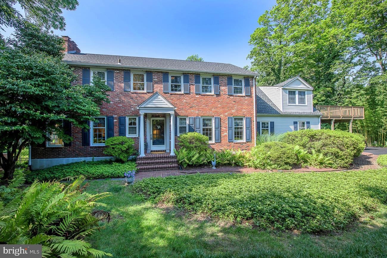 Nestled at the end of a cul-de-sac in Gladwyne, sits this beautiful 2,906+ sq ft, 5 bedroom, 3 full and 1 half bath Colonial.  Pride of ownership is evident as you walk down the front path and into the open entry of this lovingly cared for home.  Enter the spacious formal living room with crown molding, wood burning fireplace and hardwood floors that flow throughout the first floor.  The formal dining room with chair rail and crown molding sits is just the right size for hosting dinner parties.  The centrally located kitchen features granite counters, island work space, double oven, gas cooktop, stainless steel appliances, large pantry and opens the sun filled breakfast room with exposed brick, fireplace, vaulted ceiling, skylights and sliders to the deck and back patio.  Cozy family room with built-ins overlooks the rear yard and has French doors to back deck.  Conveniently off the kitchen is the mud/laundry room, half bath, access to the garage and back stairs.  Upstairs you will find the primary suite with fireplace, walk-in closet and full ensuite.  A separate ensuite with full bath and private deck sits off the back stairs and is perfect for in-law/au pair suite.  Three additional bedrooms, full hall bath and office nook complete this level.  Huge finished lower level offers additional space for play/game room, cedar closet and tons of storage.  Newer whole house generator is an added bonus.  Two car attached garage.  Located in the award winning Lower Merion School District and just minutes from the Village of Gladwyne, Conshohocken, 76 and 476.  This home is ready to tell it's next story, make it yours!