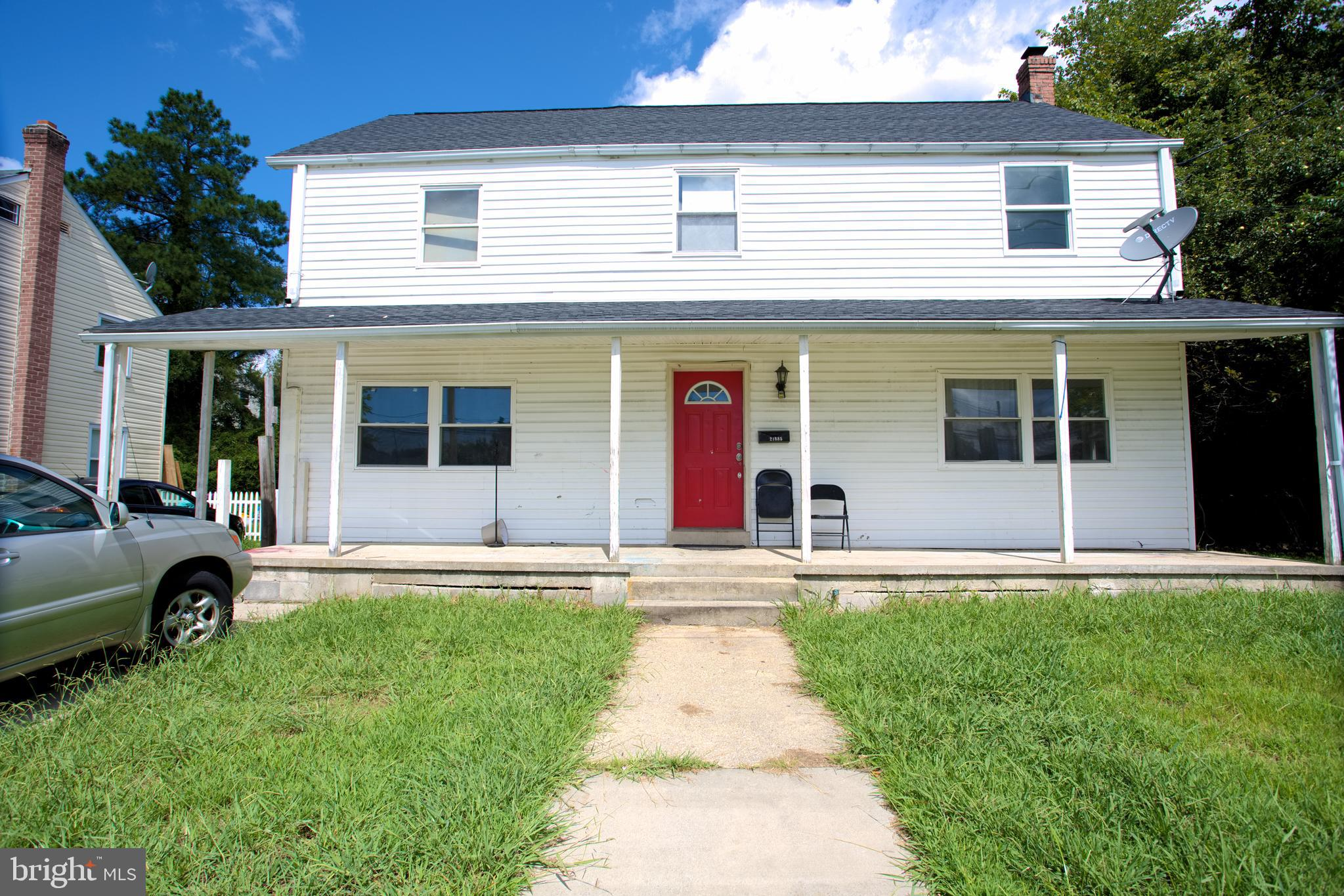 This 5 bedroom 3 full bath home offers a great location close to Pax River NAS and shopping; home needs work and great for FHA203K or Cash buyer, investor,  or anyone that has a vision to complete this house to make it their home.  This home is offered as-is in its current condition.  There is some work needed to complete second floor and no heat/central a/c on that floor.  You could move in and work on the house while living there since one level of the house has everything you need including 2 bedrooms, 2 baths, kitchen, living room, office/den and front porch; priced right to leave room for renovation costs to complete this home. This home was plumbed upstairs for 2nd kitchen but was not completed. Basement is unfinished;