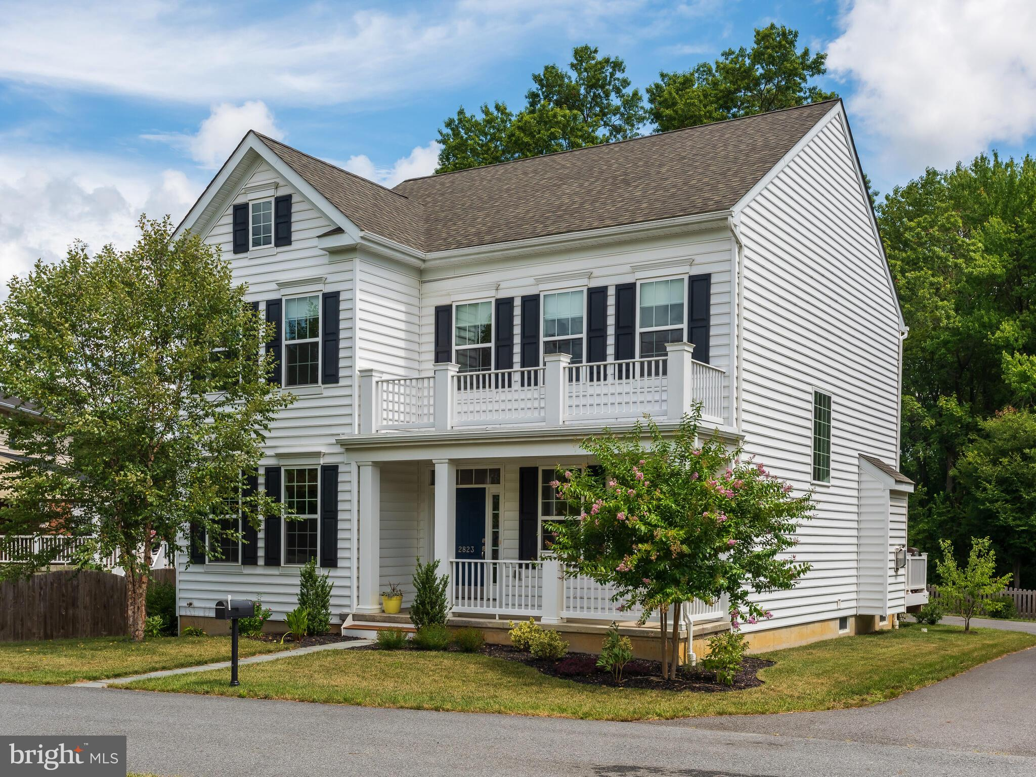 """Seller looking to relocate now, and have made a generous price reduction making this custom built home one of the best values in North Wilmington today! This Stunning two story home was Built in 2017 by Montchanin Design. The home shows pride of ownership throughout. The beautifully flowing and """"open"""" floorplan was designed for todays living, with plenty of room where it matters most. Loads of upgrades include hardwood flooring, stainless appliances, Shaker kitchen with Granite, professionally finished basement with egress and more. This home is set off the road behind a private landscaped berm on over a half acre of land. The rear yard has a spacious area cleared and  fenced in with wooded space behind the fence for nature trails, tree fort or just added privacy. All rooms are generously sized, and features four bedrooms on the second floor and a 5th bedroom in the finished lower level complete with full bath and additional family room. Energy Efficient construction include:  Two Zone Gas HVAC systems, insulated tilt windows, R49 attic insulation and more.  There is ample off street parking and an oversized two car side entry garage. Fabulous North Wilmington location directly across from the former Brandywine Country Club."""