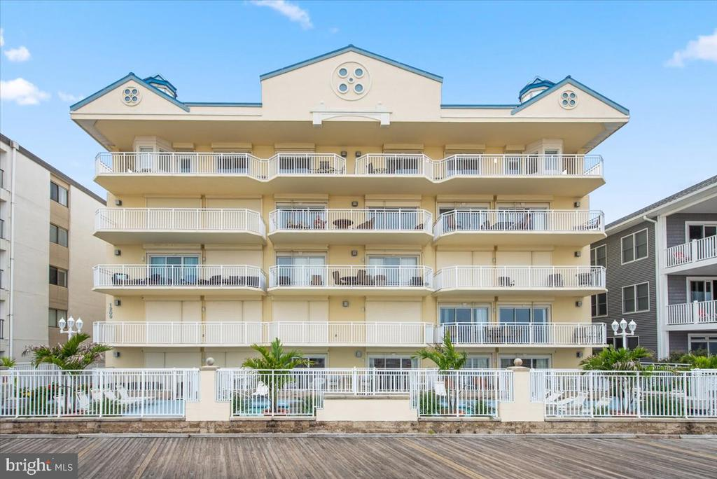 Professional pics coming soon! This grand penthouse represents the pinnacle of luxury in Ocean City beach living. Offering expansive views over the Atlantic Ocean, you will be amazed to experience the exceptional comfort and care in every detail. As soon as you exit the elevator onto the 5th floor, you will see the ample patio entryway adding additional room to your outdoor enjoyment. Only 2 residences span the entire top floor level. Bonus- 2 Ocean front Bedrooms! A spacious fully equipped kitchen offers solid surface counter tops, crisp white cabinetry, and eating bar perfect for impromptu meals or buffet setup. The open floor plan is perfect for entertaining and includes a dining area, spacious living room with lovely gas fireplace and opens onto the oversized oceanfront patio area allowing tons of natural light to pour in. All areas have recently been updated with Luxury Vinyl Plank flooring. Enjoy overly wide hallways and strategically separated living and sleeping areas. The ocean front balcony, nearly 40 feet in length is like having your own outdoor oceanfront oasis plus offers additional view opportunities as it spans around the north side of the building. Spend your days lounging by the pool or just a few steps and you're on the beach. This is one of the few oceanfront pools available with direct walk-on access to the beach and boardwalk areas. Once you have had this convenience, you will never want to give it up. Your enhanced experience of the OC Air Show will never be the same! These rooms will be full of love, laughter, and shared memories after a busy day of sunshine and beach fun! Dressed to the nines with custom decor, crown molding, and recessed lighting- this home will impress the most distinguished buyer! The Main Ensuite is a dream come true offering its own access to the ocean front balcony. Enjoy dinner and a cozy evening for two in your special designed private ocean viewing area right in your bedroom. Listen to the gentle rolling waves all n