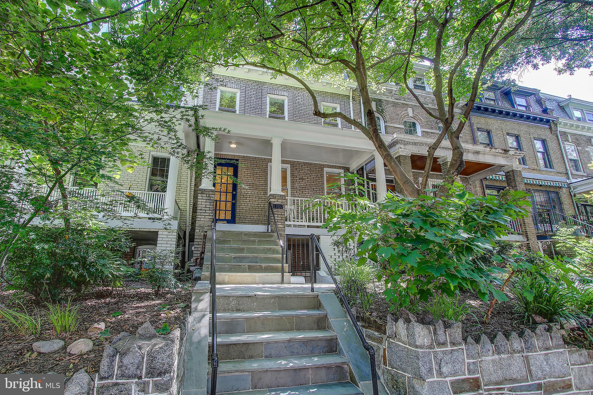 Step up to a lifestyle of understated luxury, step into 1702 Lanier Pl NW. This beautifully and lovingly renovated row house is located in the heart of Lanier Heights. This boutique neighborhood straddles Adams Morgan and Mount Pleasant. The extensively renovated main level (2015), provides curated fixtures and appliances in harmony with the home's character. This spacious sun-filled home has 4 BRs and 2BRs on the upper level. The lower level nanny/in-law suite is truly exceptional. It is complete with its own kitchen, laundry, full bath, bedroom, living area with large sliding glass door to its own patio.