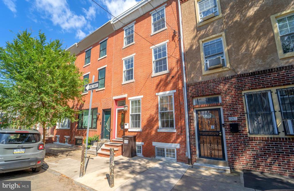 **OPEN HOUSE Saturday 9/18 from 12-2 PM** Location, Layout, Size... 1215 S 7th St checks every box!  Perfectly situated in Passyunk Square; super convenient to the celebrated shops and restaurants in and around E Passyunk Ave, Italian Market, Queen Village, Bella Vista, Old City, Center City, and beyond; right around the corner from Gold Star Park (see attached photo for proximity); walking distance to Jefferson Park as well as Capitolo & Sacks playgrounds; close to highways, hospitals, grocery stores, big box shopping on Columbus Ave... the list goes on!  Once inside, you'll appreciate the wide open living/dining layout that flows into a kitchen with granite countertops, stainless steel appliances, large seated island, and ample cabinet and counter space.  The first floor also includes a convenient half bath, laundry area with hookups & utility sink, and access to a sprawling back patio with plenty of room to garden, grill, relax, or entertain!  The second and third floors each have two spacious bedrooms with nice sized closets and fully tiled bathrooms with double vanities -- the third floor bathroom boasts a jacuzzi tub and standing shower.  Throughout the impeccably maintained home, features include: beautiful hardwood flooring, recessed lighting, ceiling fans, oversized windows/tons of natural light, and more.  Last but not least, the full basement is finished and fit for use as a den, office, home gym, playroom - you name it!  Do not miss your chance to call this Passyunk Square gem your own -- Schedule a showing today!