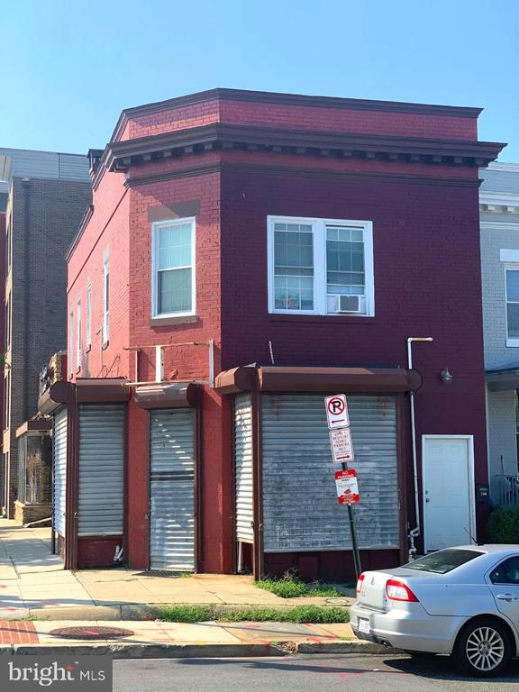 Owner or Developer Oppotunity!  Commercial property with long term dry goods tenant utilizing 1st Flr and Basement and family unit upstairs.  Upper Unit $2800 monthly. Perfect for live in store operator  or go big with multi unit.  Georgia Ave is blossoming with new housing, rentals, stores and restaurants in a rapid transformation.   This property perfectly positioned to take advantage of future developments.  Please call agent for details on current zoning , licensing and occupancy issues.  Investor,   Let's Talk