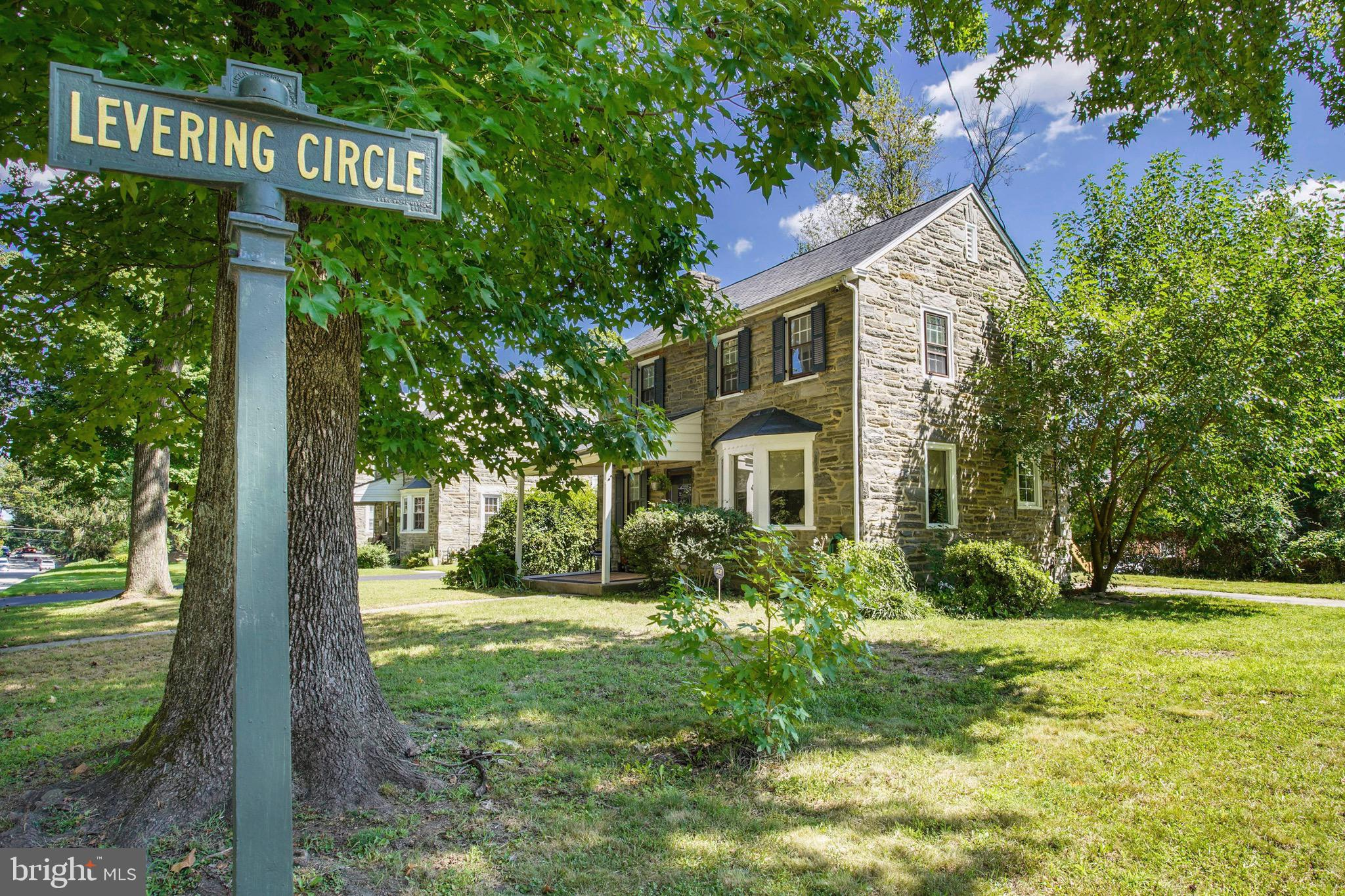 Don't miss this 1950's Stone Colonial set on a beautifully landscaped flat lot on Levering Circle, one of Bala Cynwyd's most desired cul de sac streets with a private driveway.  This charming sun filled home is just steps to Bala Cynwyd Park, Cynwyd Heritage Trail, and short walk to Bala Cynwyd Train Station and Cynwyd walking trails. Close to Wholefoods, Suburban Square & 15 minute drive to center city. Prestigious Blue Ribbon Award Winning Lower Merion Schools! This corner single features 3 bedrooms 2 full baths, a spacious living room with brick wood burning  fireplace, a separate large dining room and eat in kitchen with built in breakfast table. Kitchen boasts granite countertops, flat panel cabinetry, stainless steel appliances including a commercial 5 burner gas range w/ vented hood.  The main level includes a bonus family room/office with exposed brick and built ins.  Upper level offers a large master bedroom with en suite full bath and two additional large bedrooms with a renovated hall bath. Fantastic features include original hardwood floors, LED recessed lighting, designer light fixtures & fresh paint throughout, a brand new roof,  central air, a new sewer line to street, a flat yard with storage shed and a full basement with laundry. A must see!
