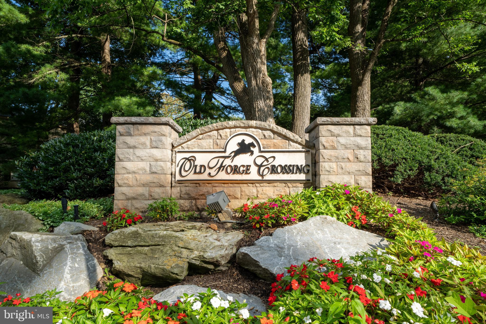 Don't miss this opportunity to move into a beautifully updated first floor condo in popular Old Forge Crossing. Living room, dining room, and kitchen are open providing a wonderful flow to this living space. Enjoy the wood burning fireplace. The bathroom has also been tastefully renovated with new vanity, lighting and fixtures. Large main bedroom with 2 generous closets. In unit washer dryer. There is plenty of closet space including a large walk-in closet. Painted with neutral color, new luxury vinyl tile and Newer windows throughout. New HVAC installed in 2020. The unit is located on a dead-end street which provides less traffic and plenty of parking. This beautifully landscaped community features a reflection pond, walking paths and social activities for everyone. Old Forge Crossing is on 40 acres with walking trails, swimming pool and three tennis courts. Like to bike or enjoy long walks? OFC has private access to the Chester Valley Trail. Short commute to the Devon train station (R5) and bus routes to the city, 202 the turnpike as well as major corporate centers and shopping especially Trader Joes, Whole Foods, Wegmans and the King of Prussia Mall. Move in today and enjoy! Cats are allowed - no dogs. Make this your home today!