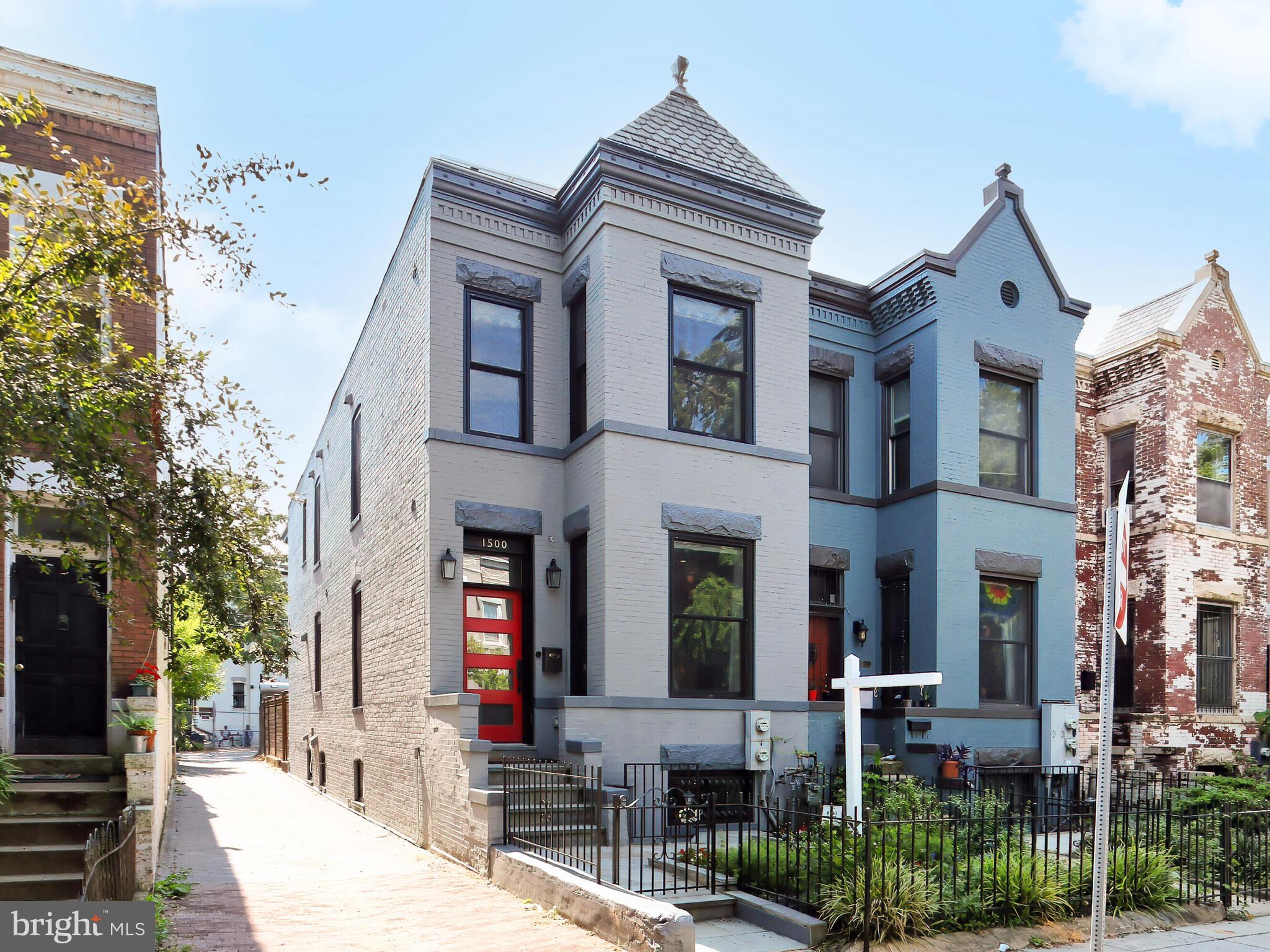 """Welcome to 1500 Monroe, Reimagined and Completely Remodeled in 2017!  Custom Features Throughout this End Unit Row Home with 2 Car Parking, just Steps to all Columbia Heights and Mount Pleasant has to Offer, Including Award-Winning Restaurants, Retail, & Farmers Markets!  1500 Monroe is Where Functional Living Meets Creative Design.  From the Custom Closets to Showcasing the Reclaimed Wood from the Original 1909 Construction,  this Home will Surpass your Expectations.  The Highlights: Top to Bottom Remodel in 2016-2017, to Include Electrical and Plumbing, Solar Panels by Solar Solution, New Roof in 2018, 2 HVAC Units by Carrier Infinity, Shaker Style Cabinets with Cove Details, Bosch/Whirpool Appliances, Exposed Brick Wall, Wet Bar with High End Summit Wine Fridge, Custom LED Lighting, and Much More. The Second Level has 3 Bedrooms and 2 Full Baths, Both with Double Vanities, a Skylight, Balcony, Washer/Dryer, Custom Closets, Built Ins, Custom Lighting. Transoms and Cove throughout!  Now to the Lower Level, Once a 2 Unit Building but Now Open for Single Family Enjoyment this Home is Easily Converted Back.  You'll Find, a Full Kitchen, Living Room, Bedroom, 2 Separate Entrances, Full Bath, Washer/Dryer, Separately Metered, and its own HVAC.  9'6"""" Ceiling Heights on Main Level, 9' on Second Level, and 8' on LL.  This home Shines Throughout, Don't Miss Out!"""