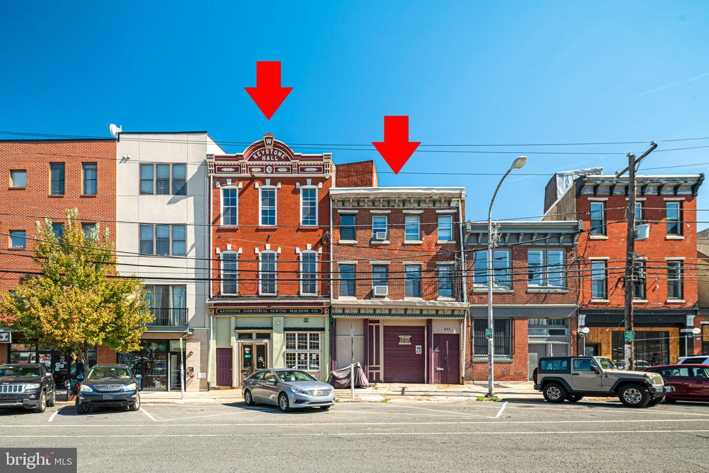 831 N. 2nd St -  Basement- Storage Open basement with non-functional elevator and large open stairwell 1st floor -Storage Warehouse 2,751sqft +/- 2nd floor - Live-work units Apt 1- Vacant Apt 2- $935 per month, lease is month to month 3rd floor - Live-work units Apt 3-$1,450 per month, lease is month to month Apt 4- $885 per month, vacant as of 10/1. 831 N. 2nd- undervalued rent for 4 New York style live-work apts,831 N 2ND has windows on the party wall- well lit apartments.  833-35 N 2nd Street - 5,546 +/- sqft  - 5 stories high Basement-Expansive Basement with functional elevator shaft 1st Floor- Retail / Shop area 2nd Floor- Storage Area 3rd floor- Storage Area.  833-835 N 2nd- Retail with lots of storage.