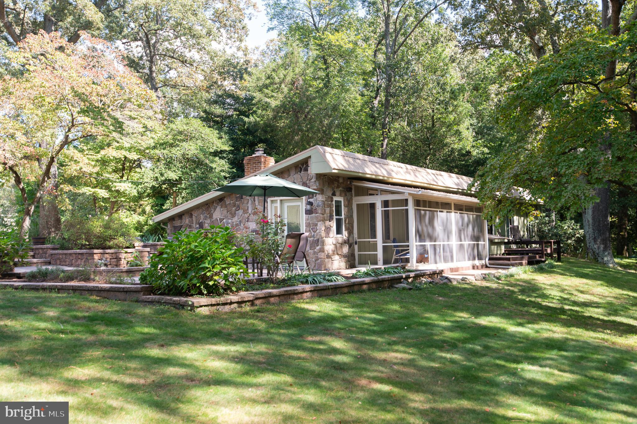 Quintessential eastern shore retreat.  Rustic knotty pine walls and new floors , updated kitchen and baths. Stepped hardscaping and planters overlook woods with walking path.  Screen porch. Shed- shop has 220 electric, could be cool home office.  Lots to see here folks. Lot is larger than it appears.
